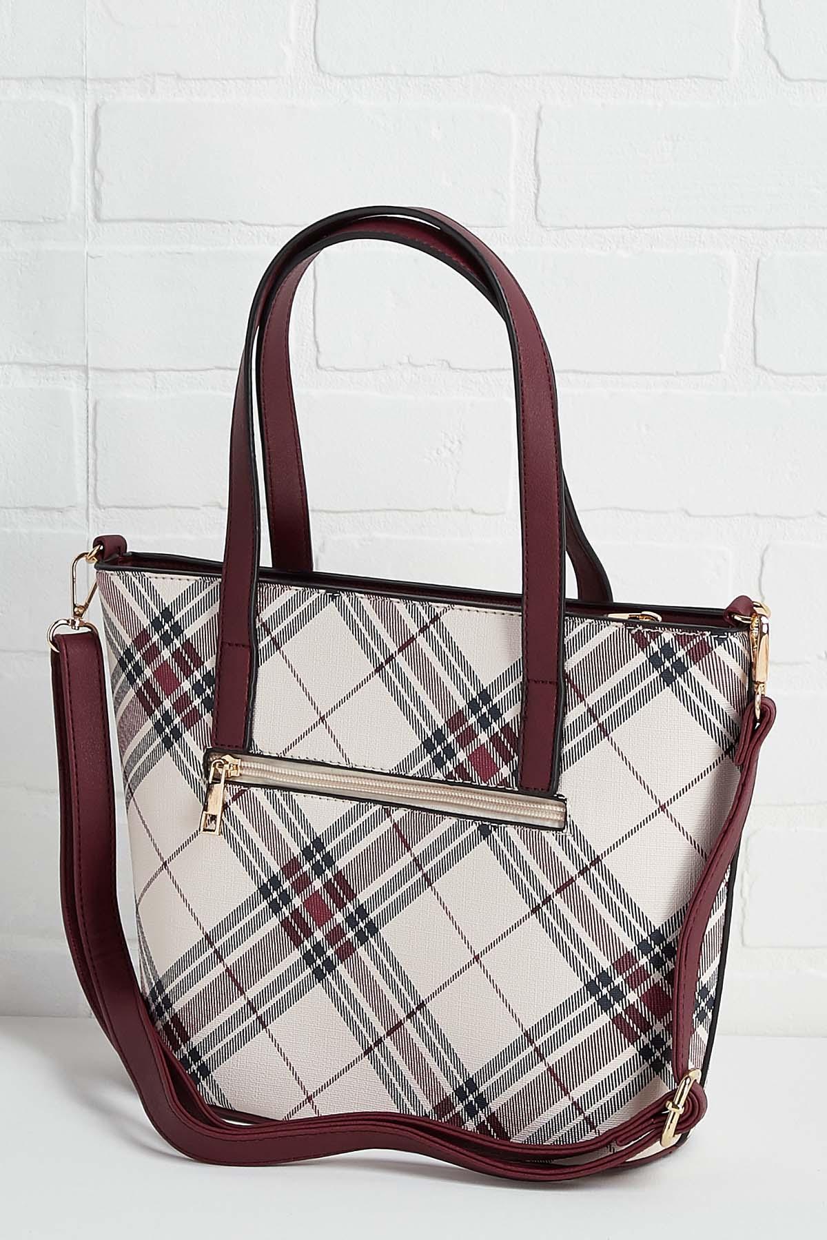 Plaid To Meet You Bag