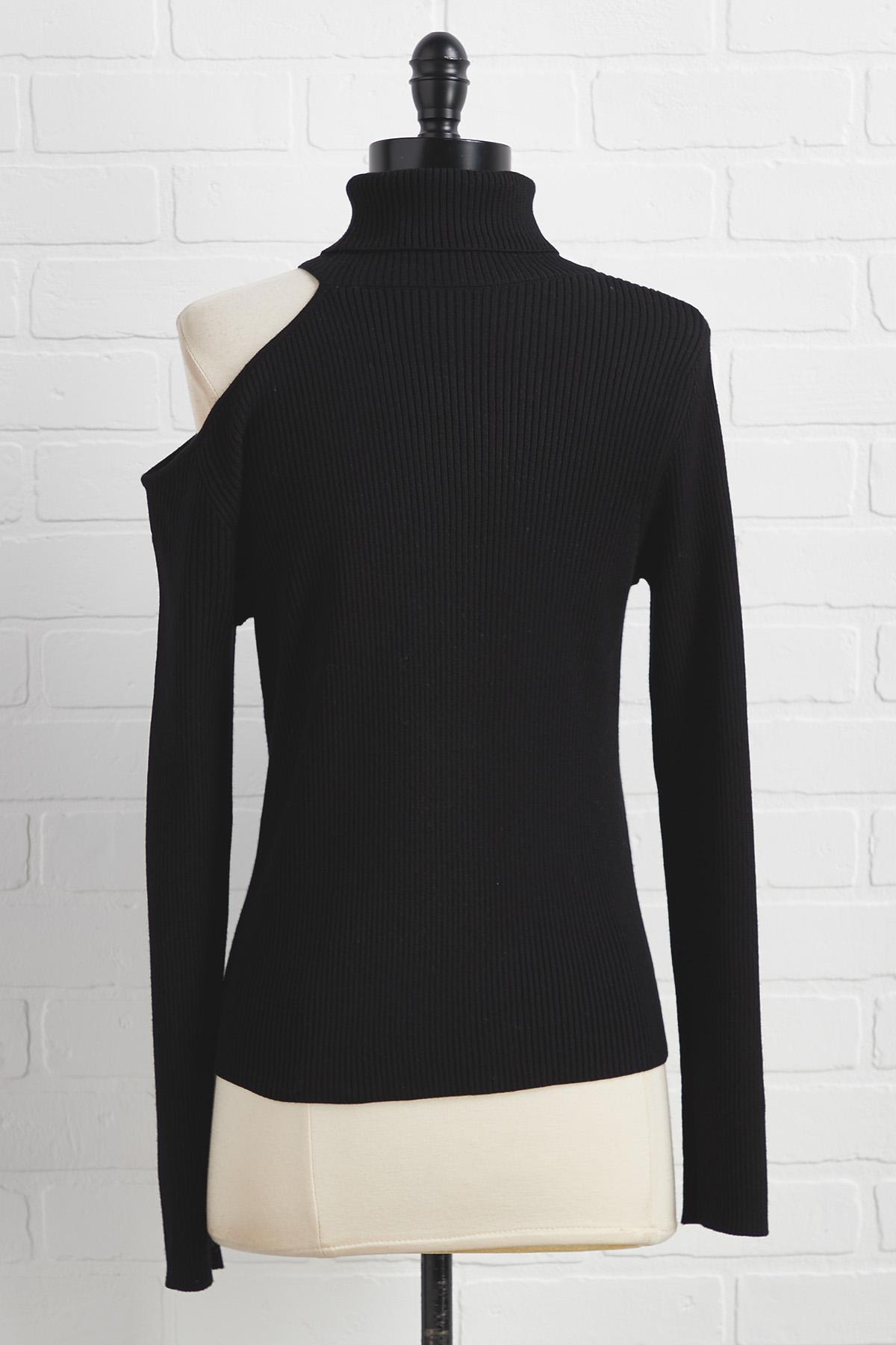 Cut It Out Turtleneck Sweater