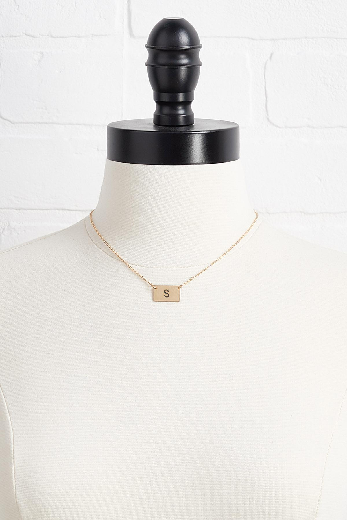 S Initial Pendant Necklace