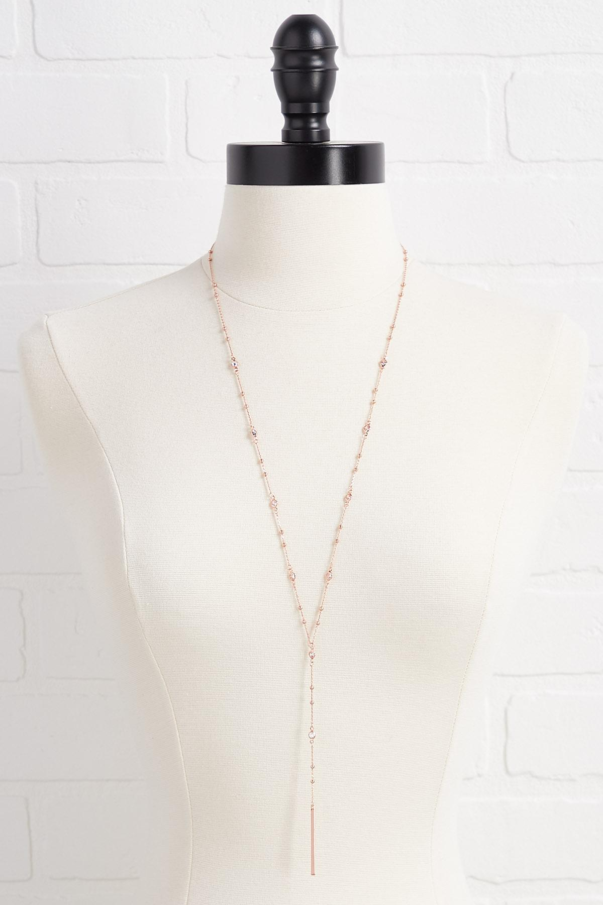 Glam Rose Gold Necklace