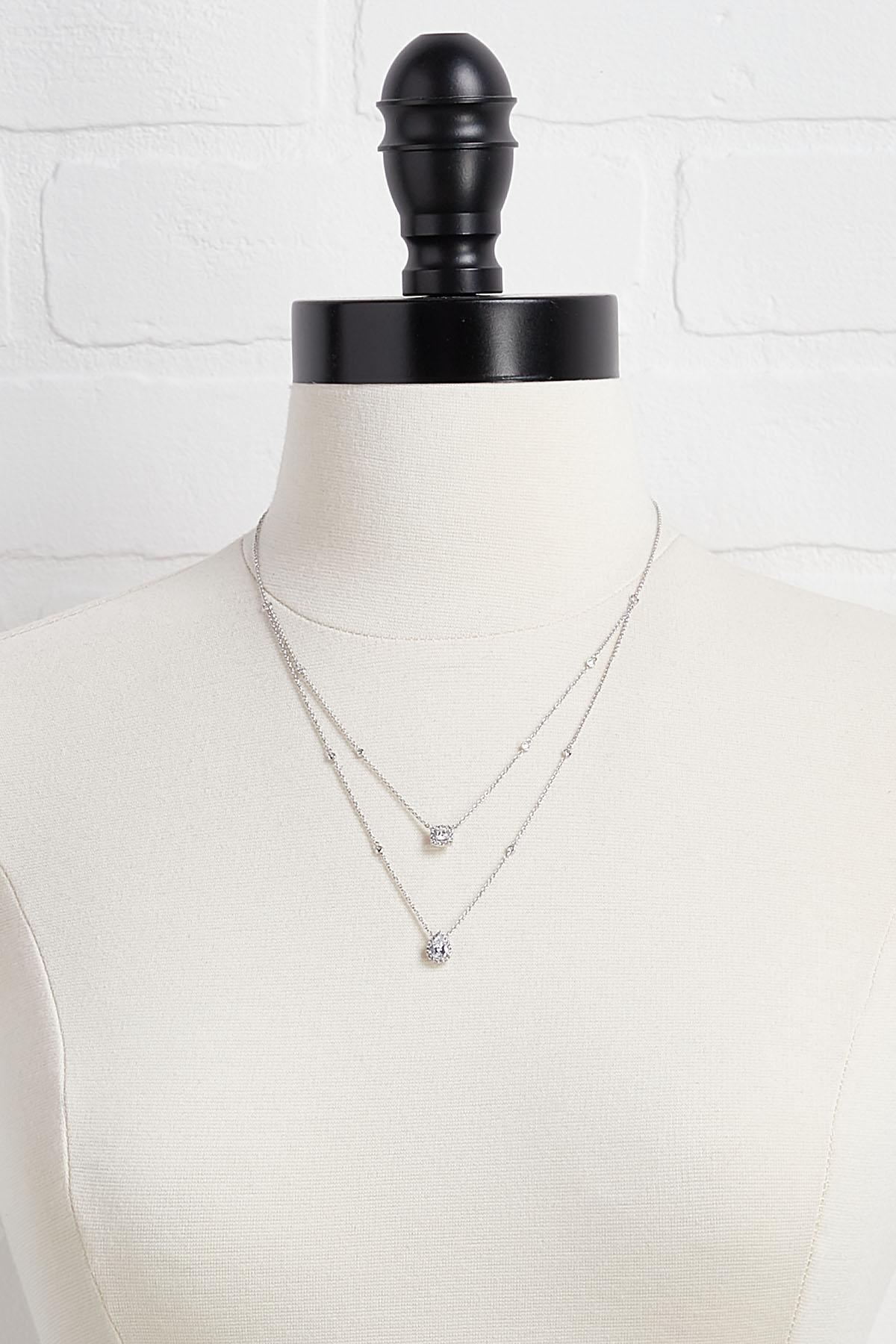 Dainty Double Pendant Necklace