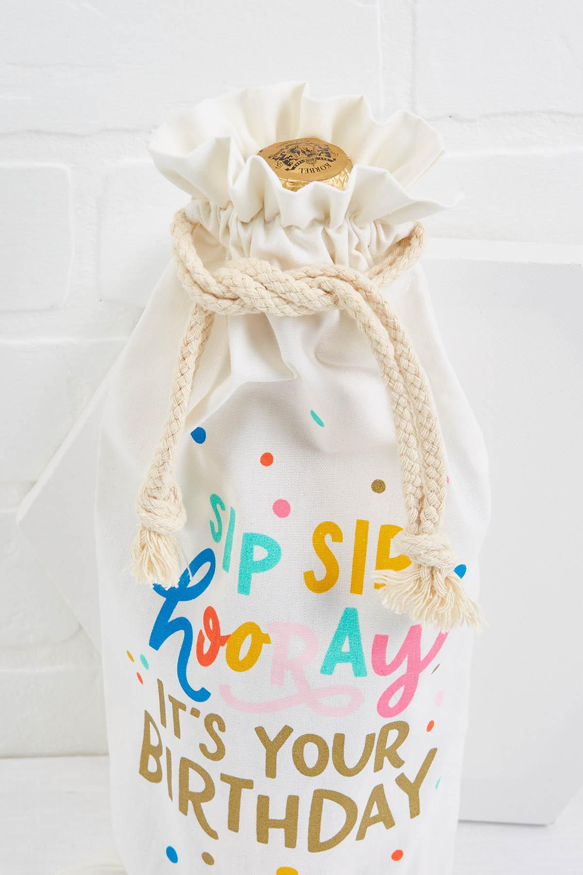Sip Sip Hooray Wine Bag