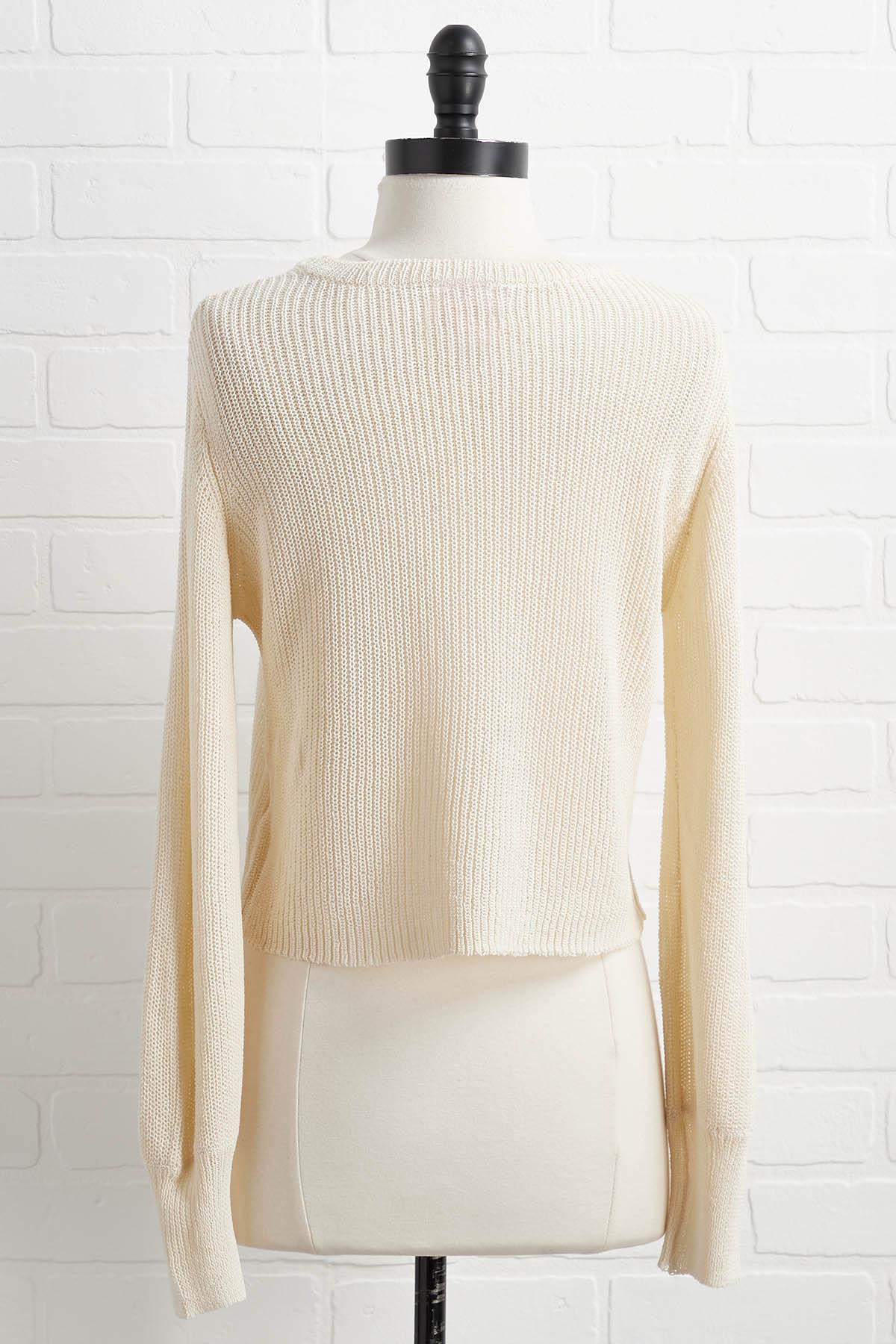 Cream Of The Cropped Sweater