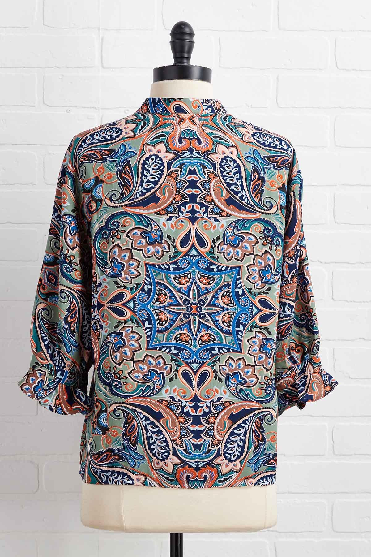 A Bit Of A Paisley Day Top