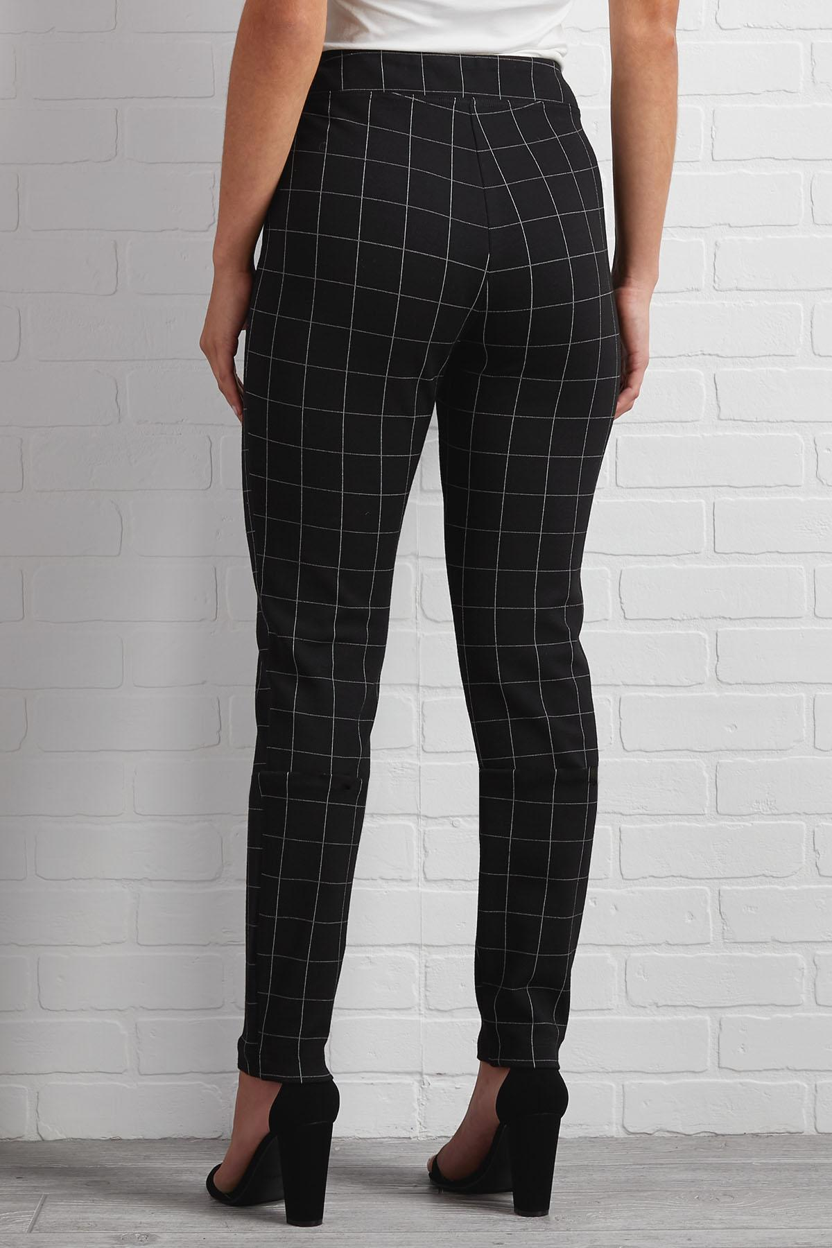Beauty Is Windowpane Plaid Leggings