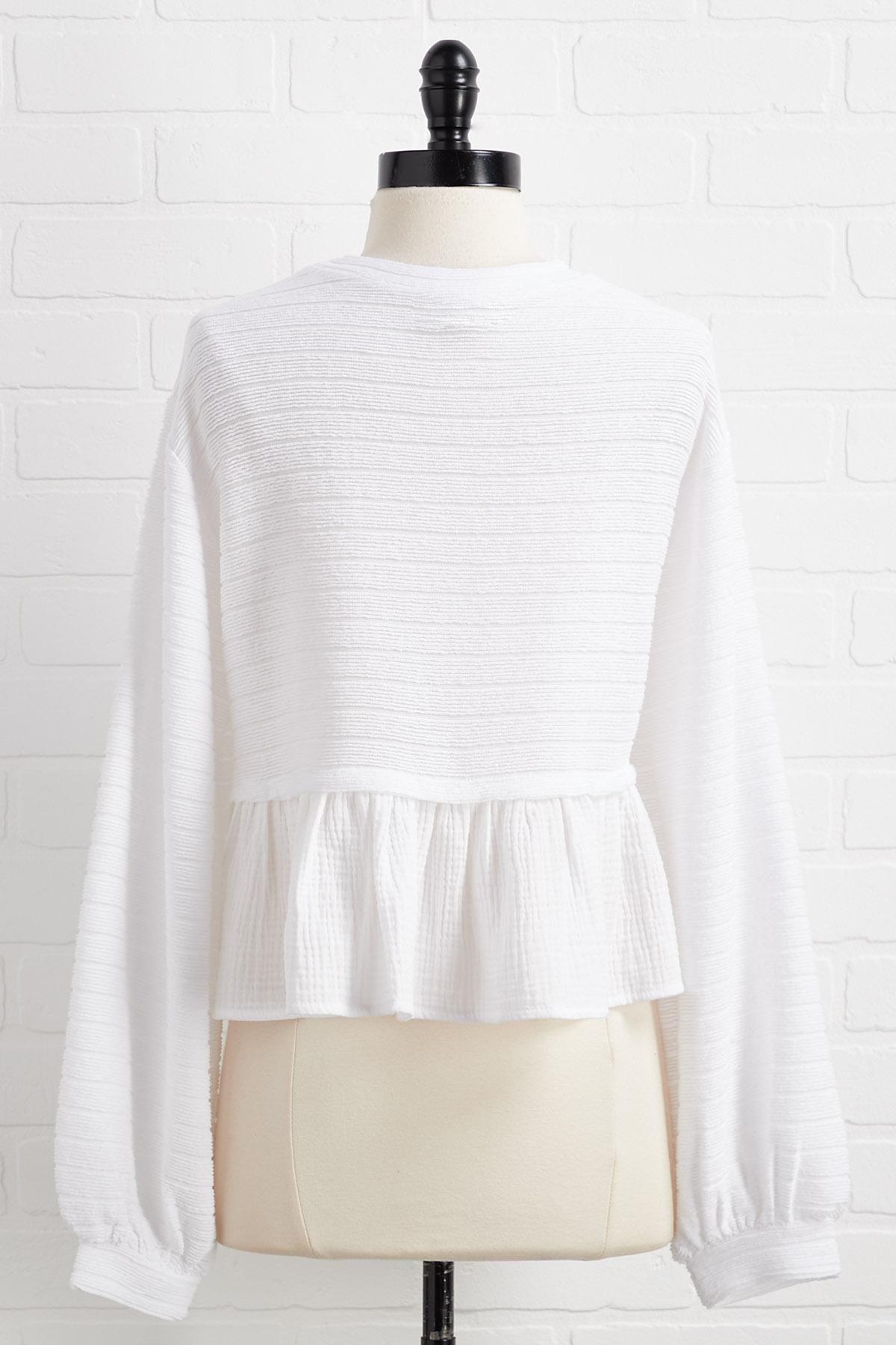 Winter White Top