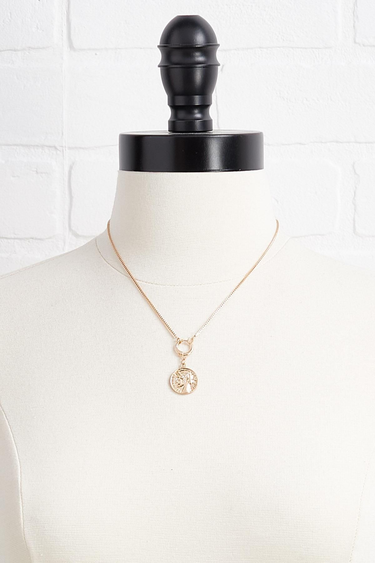 Coin Charm Necklace