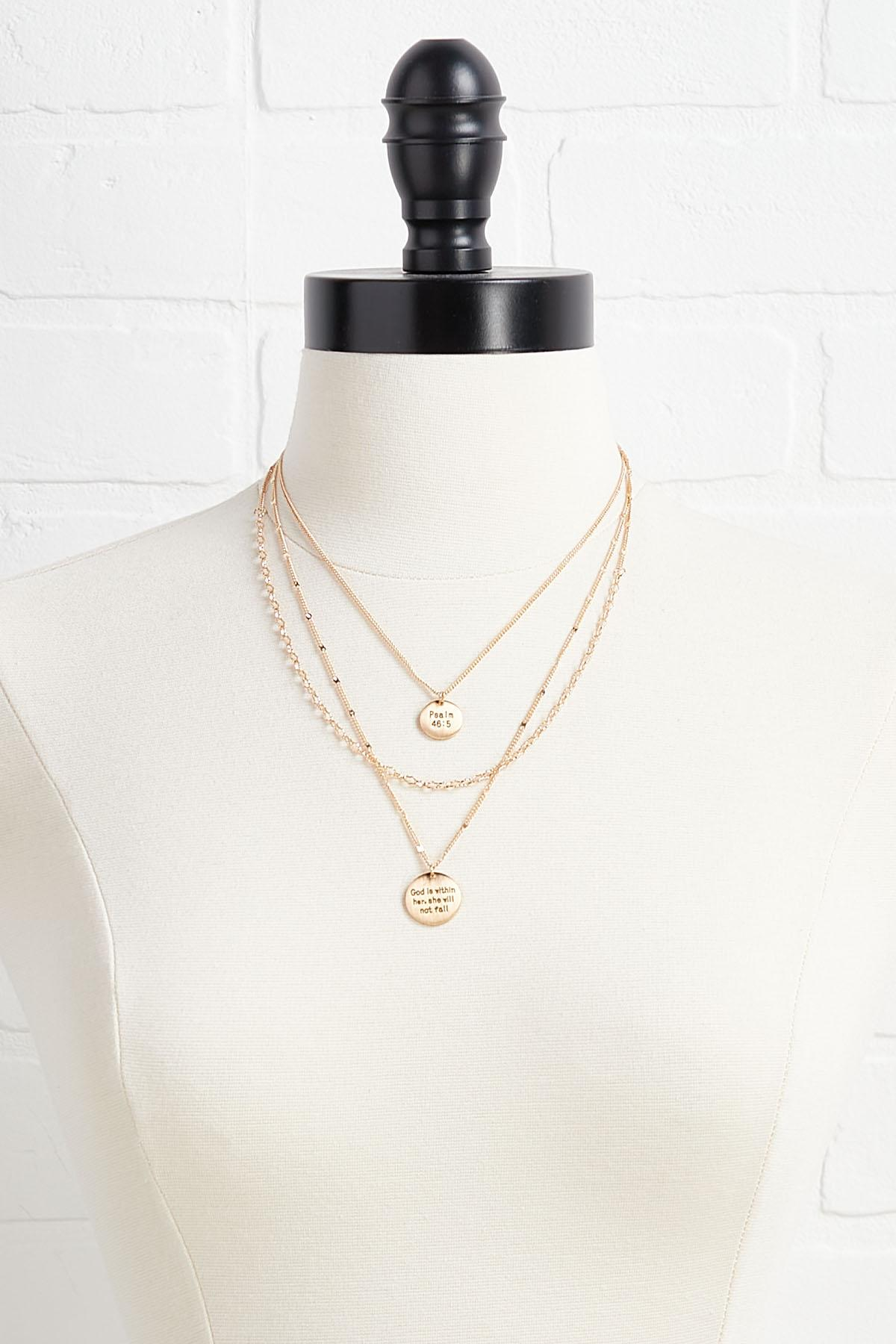 God Is Within Her Necklace Set