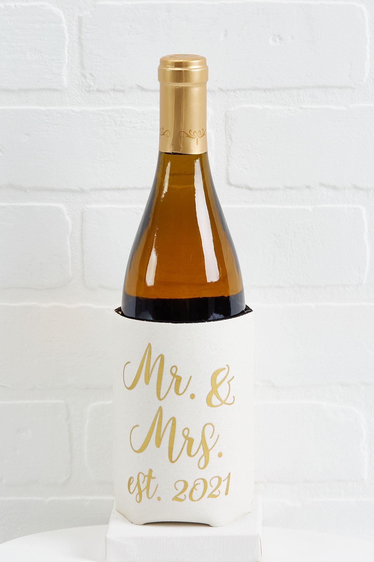 Mr And Mrs Wine Bottle Koozie