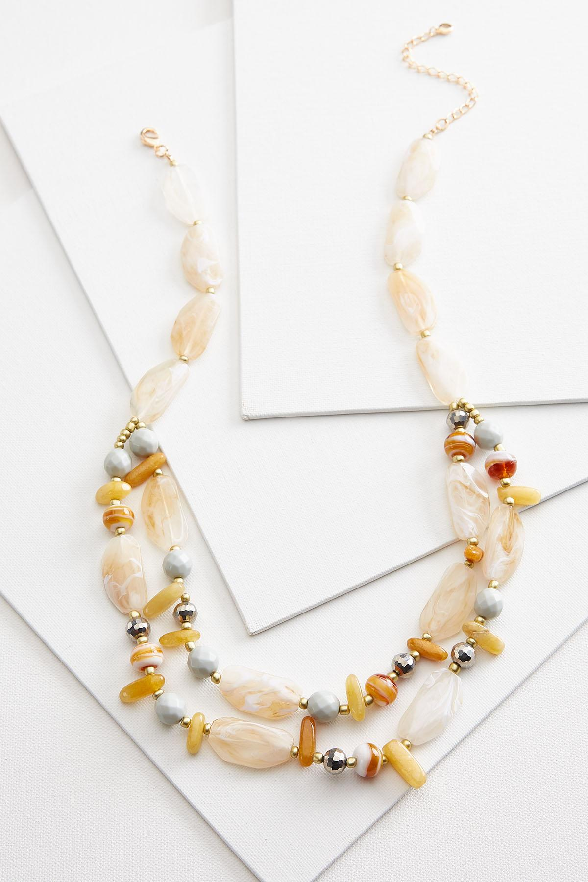Golden Beaded Necklace
