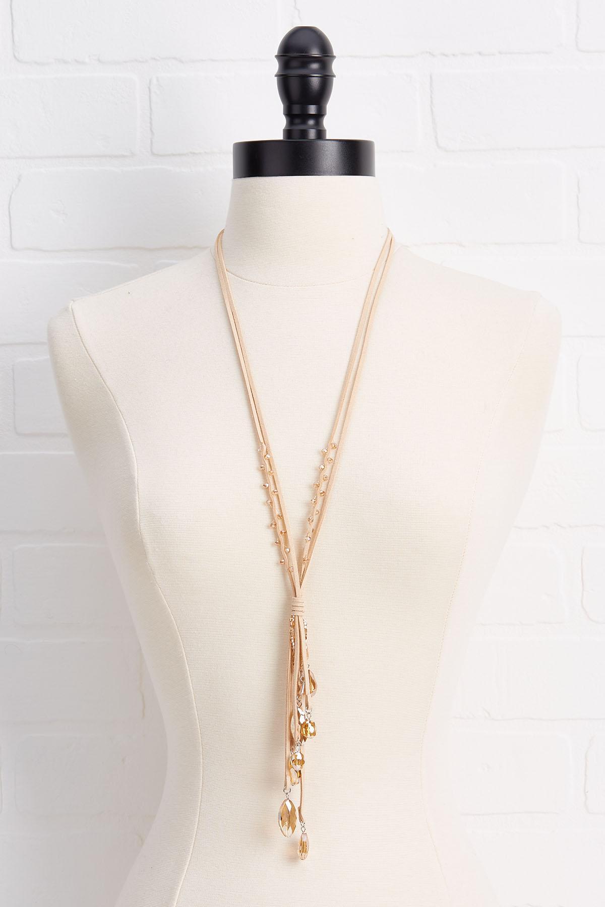 Suede Pendant Necklace
