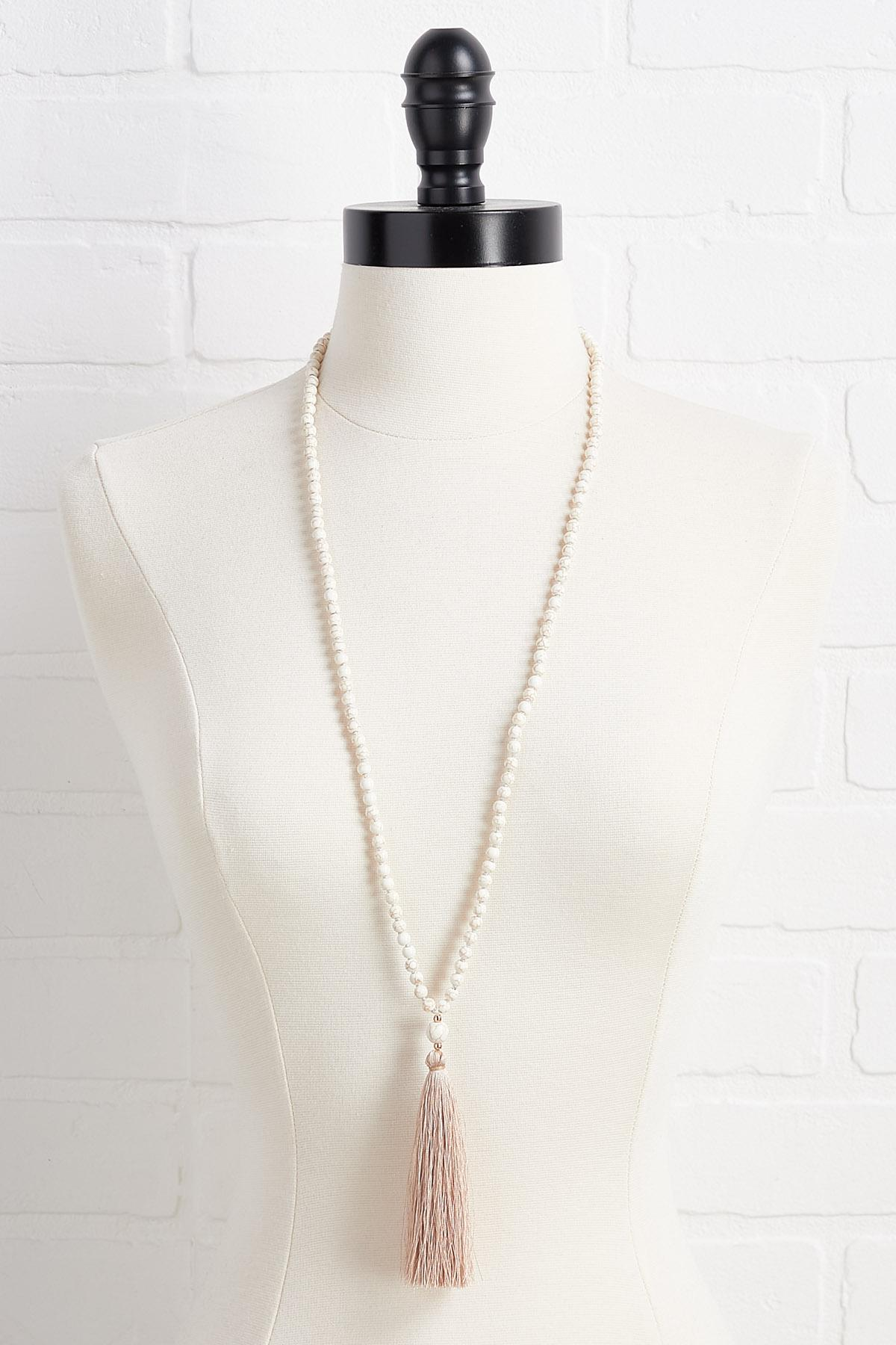 Pearl And Tassel Pendant Necklace