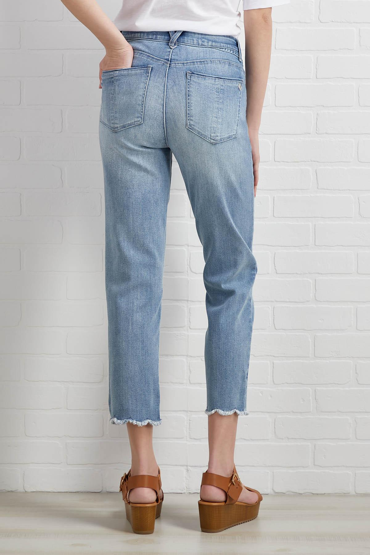 Straight Leg To The Point Jeans