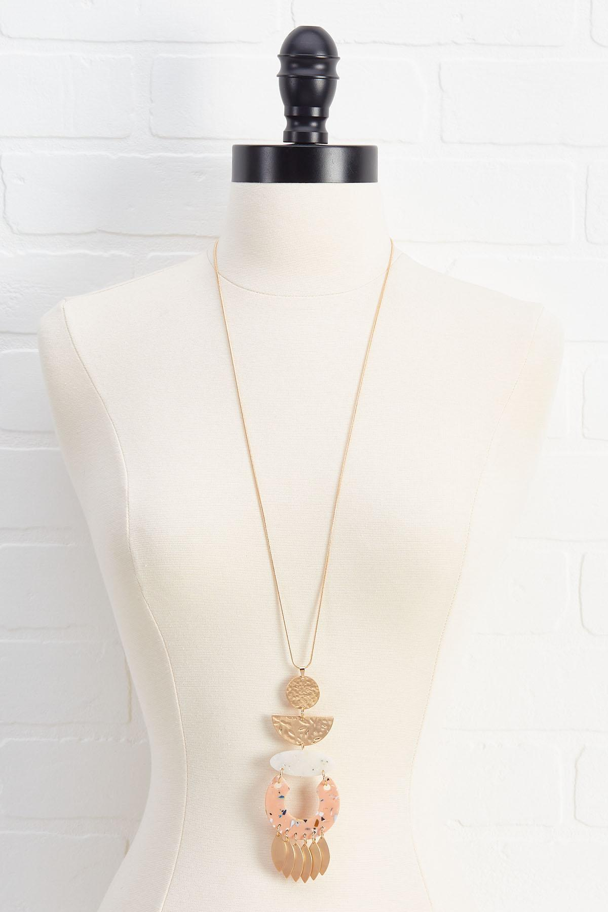 Lucky Lucite Necklace