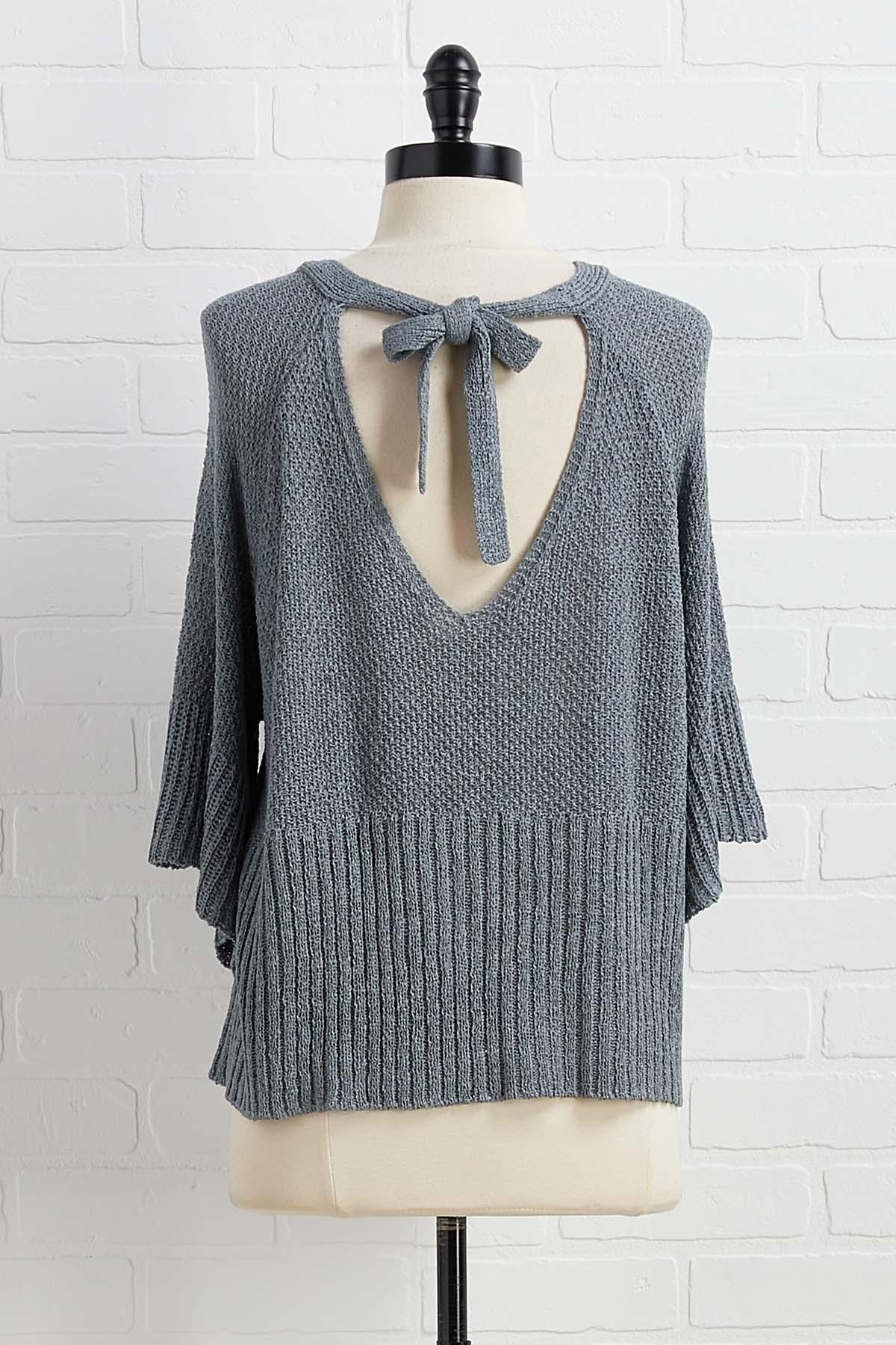 Let's Bow Back Sweater