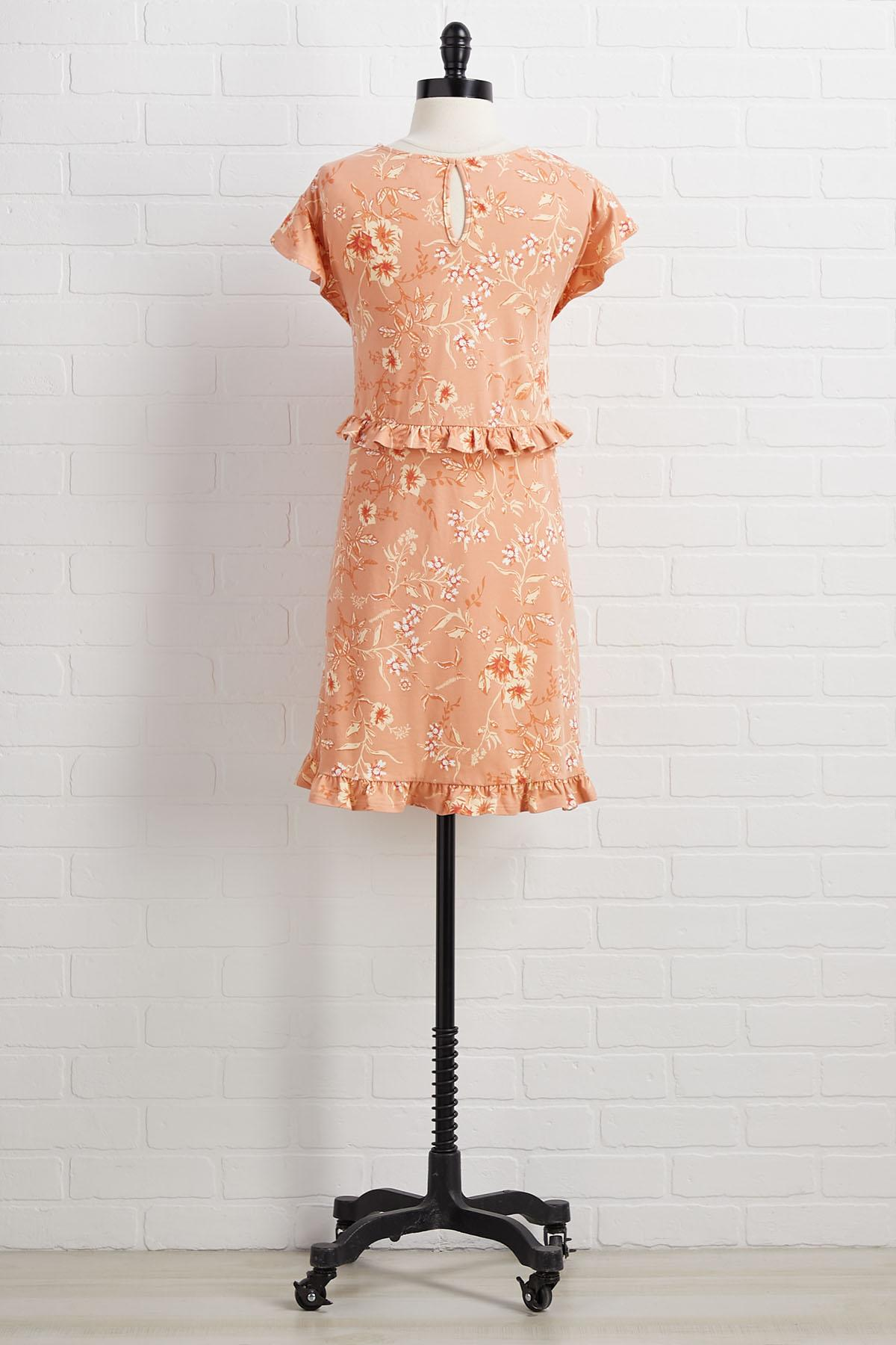 Sweet As Can Peach Dress