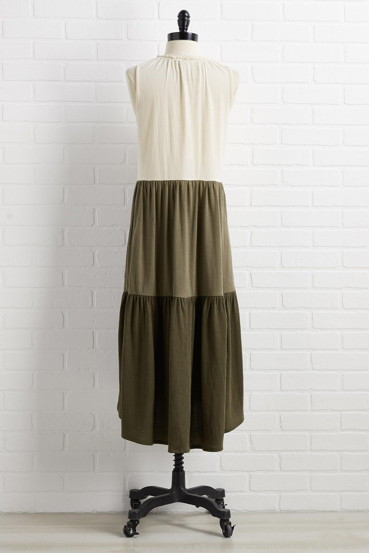 Shades Of Green Dress
