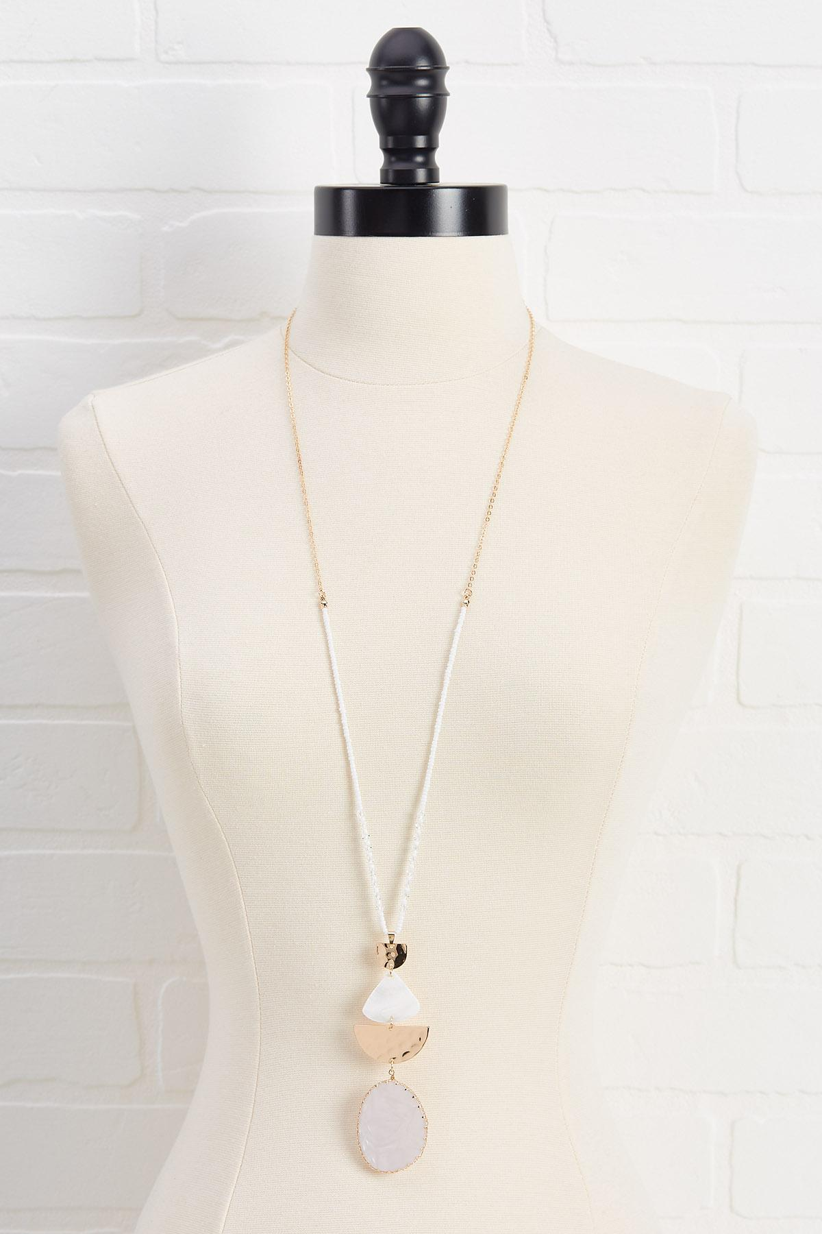 Lucite Shell Necklace