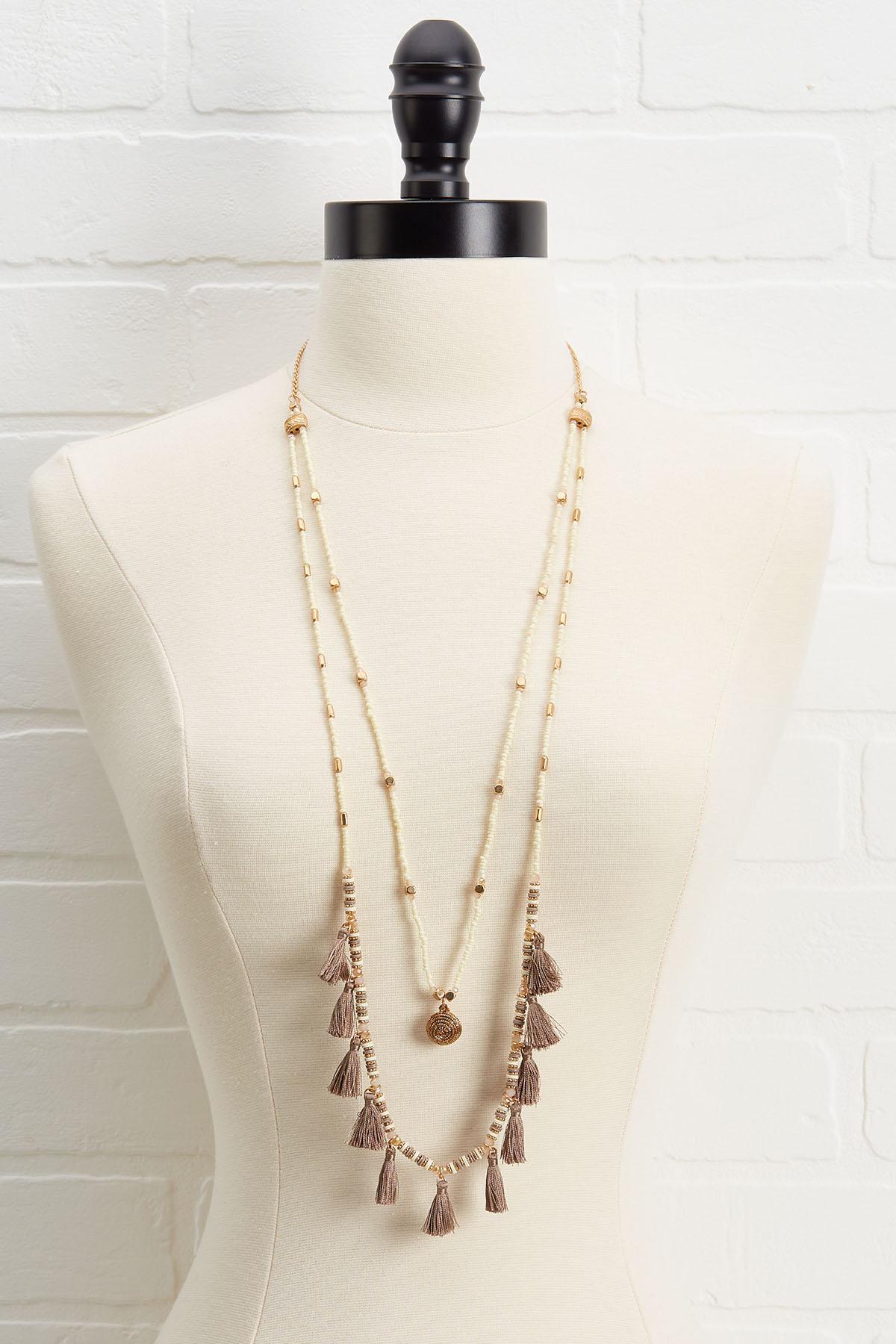 Layered Tassel Necklace