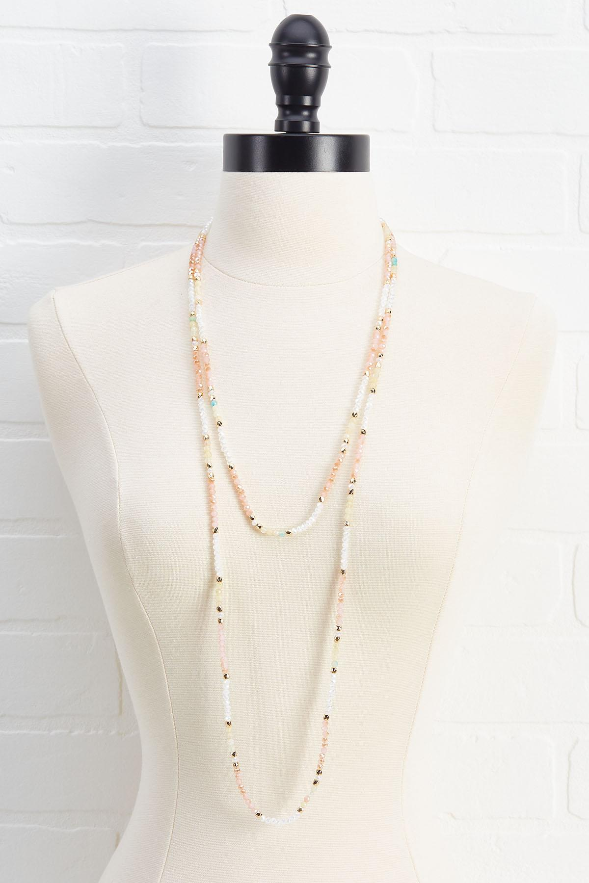 Layered Crystal Cord Necklace