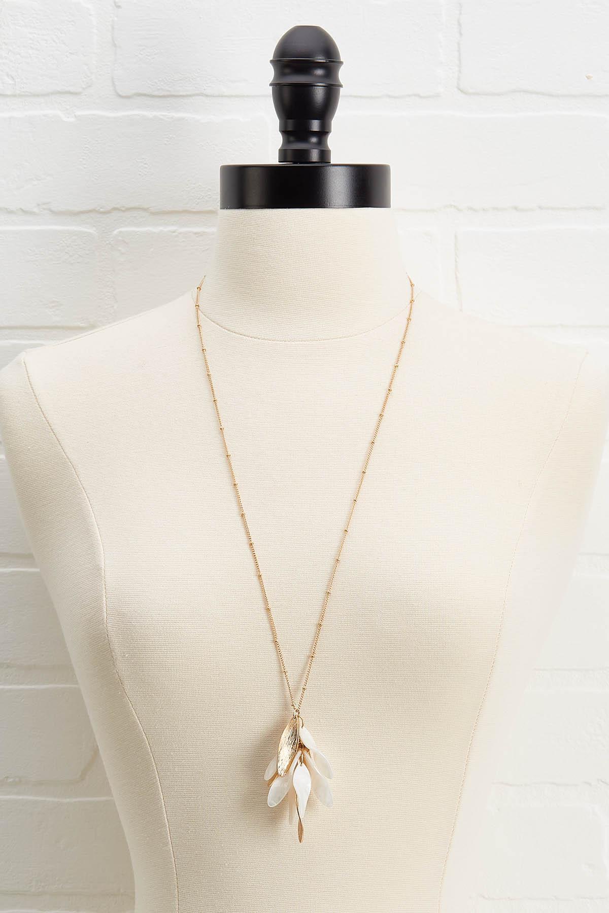 Lucite Pendant Necklace