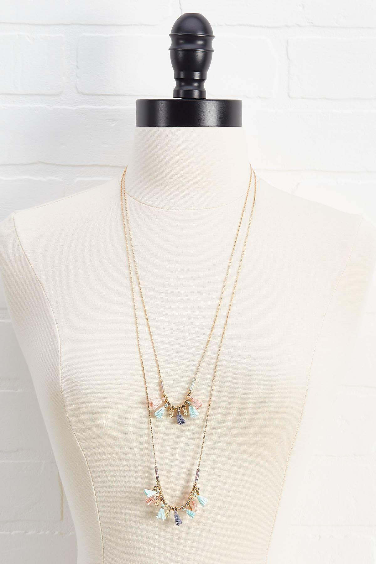 Shaky Tassel Layered Necklace