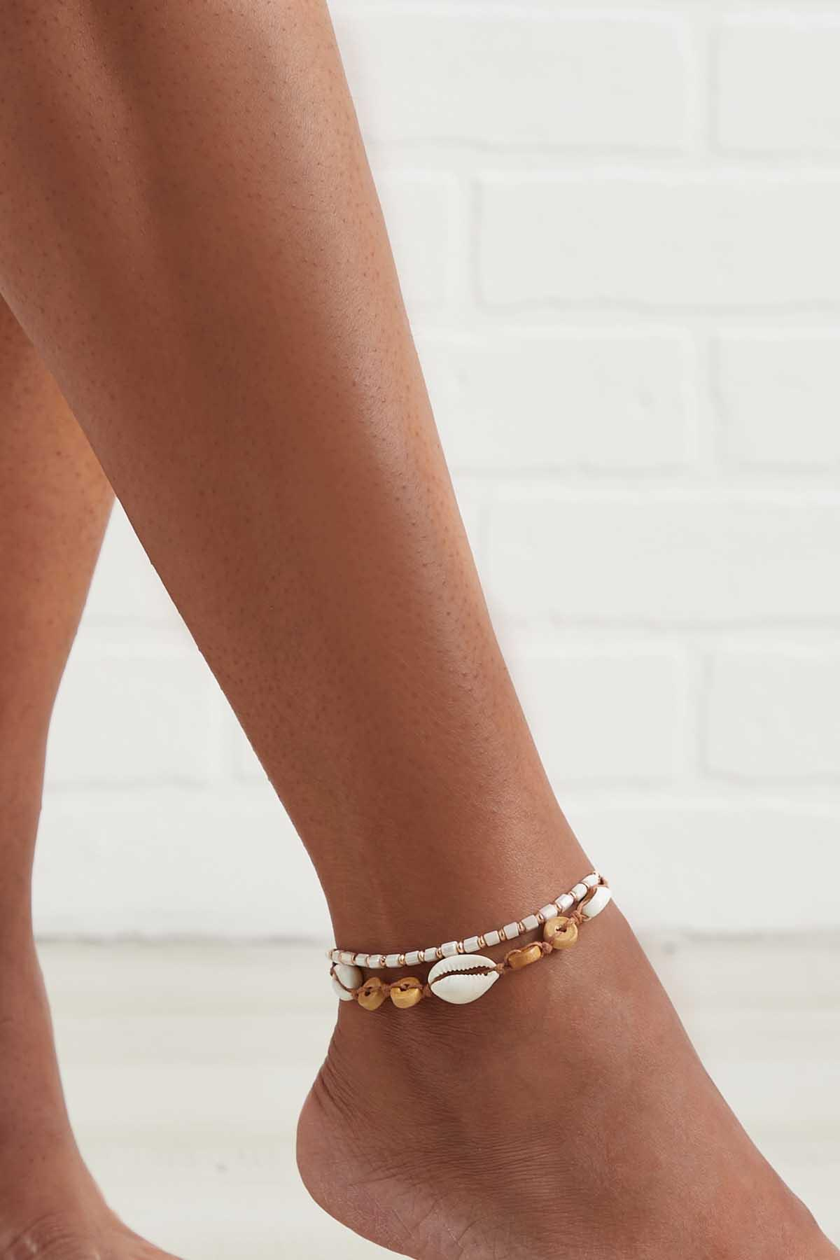 Puka Shell Anklet