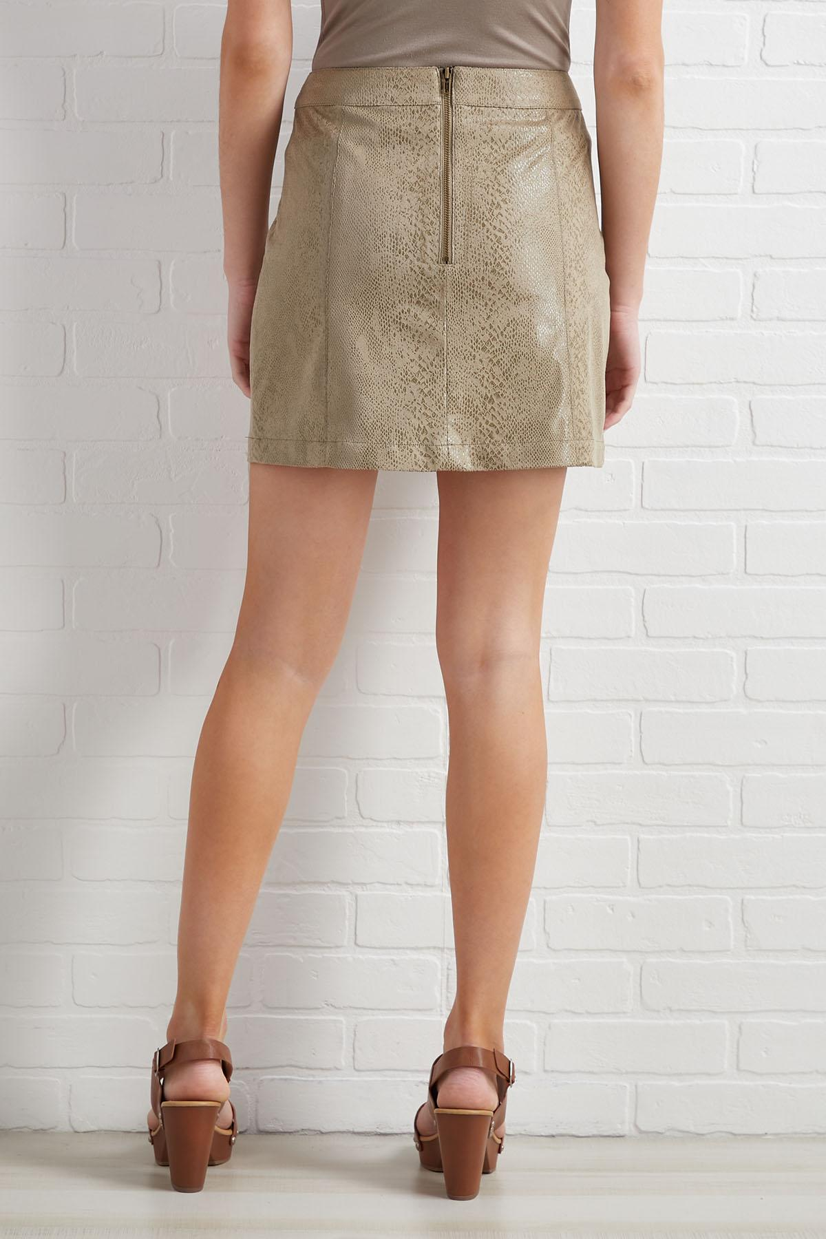 Through Thick And Skin Skirt