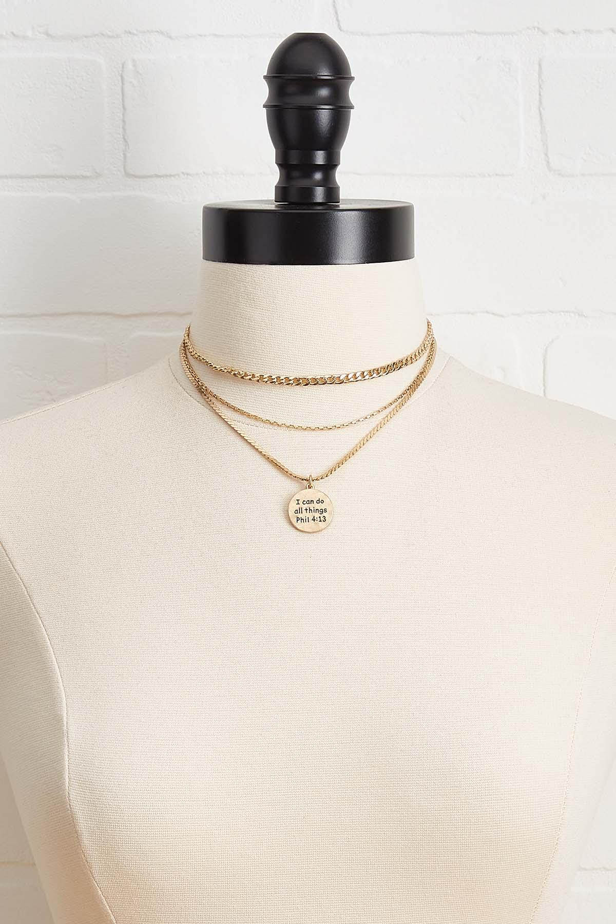 I Can Do All Things Layered Necklace