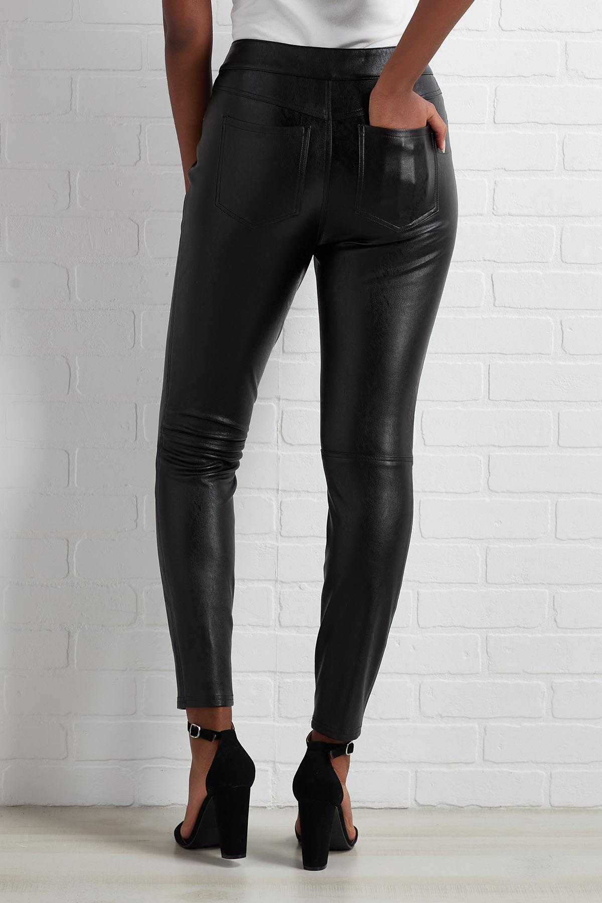 Checking The Leather Pants
