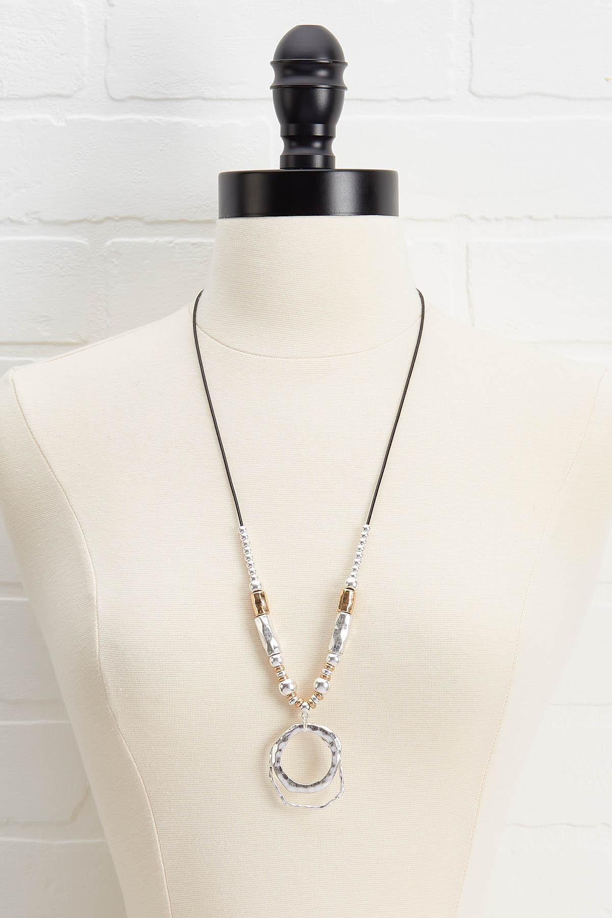 Mixed Metal Beaded Necklace