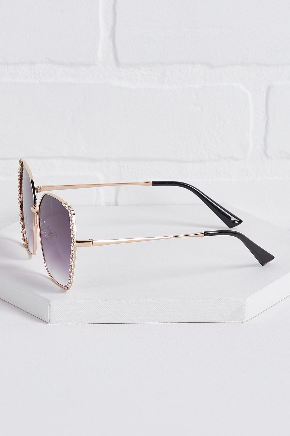 Stone Embellished Sunglasses
