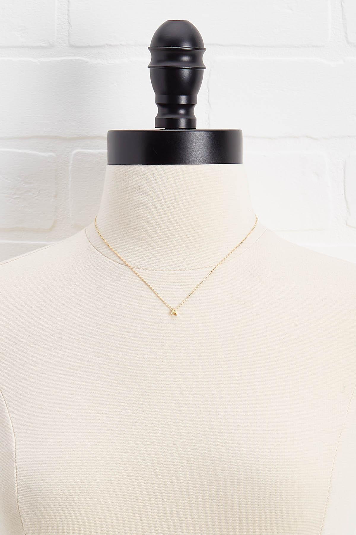 18k Tiny A Necklace