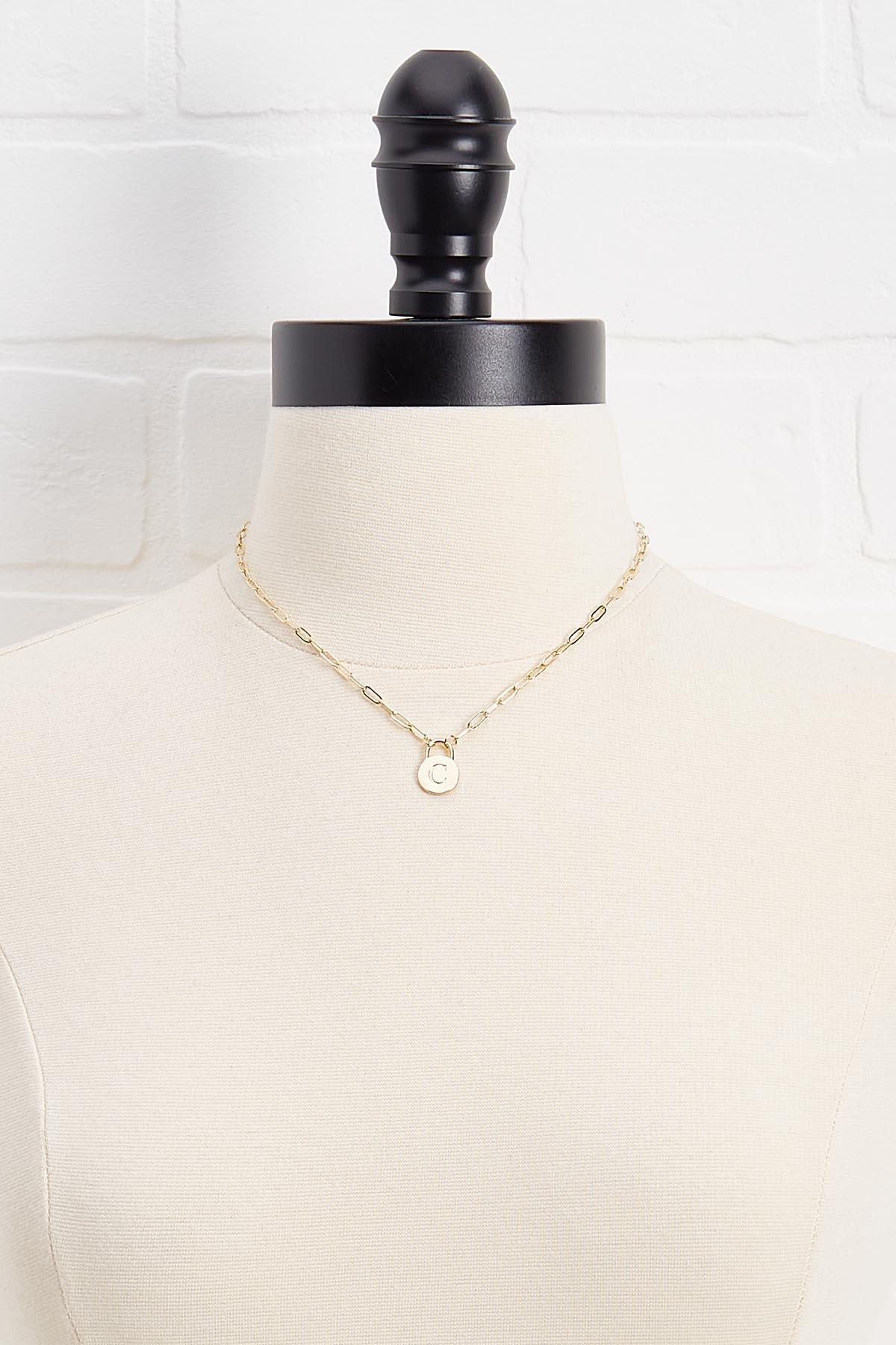 18k C Pendant Necklace