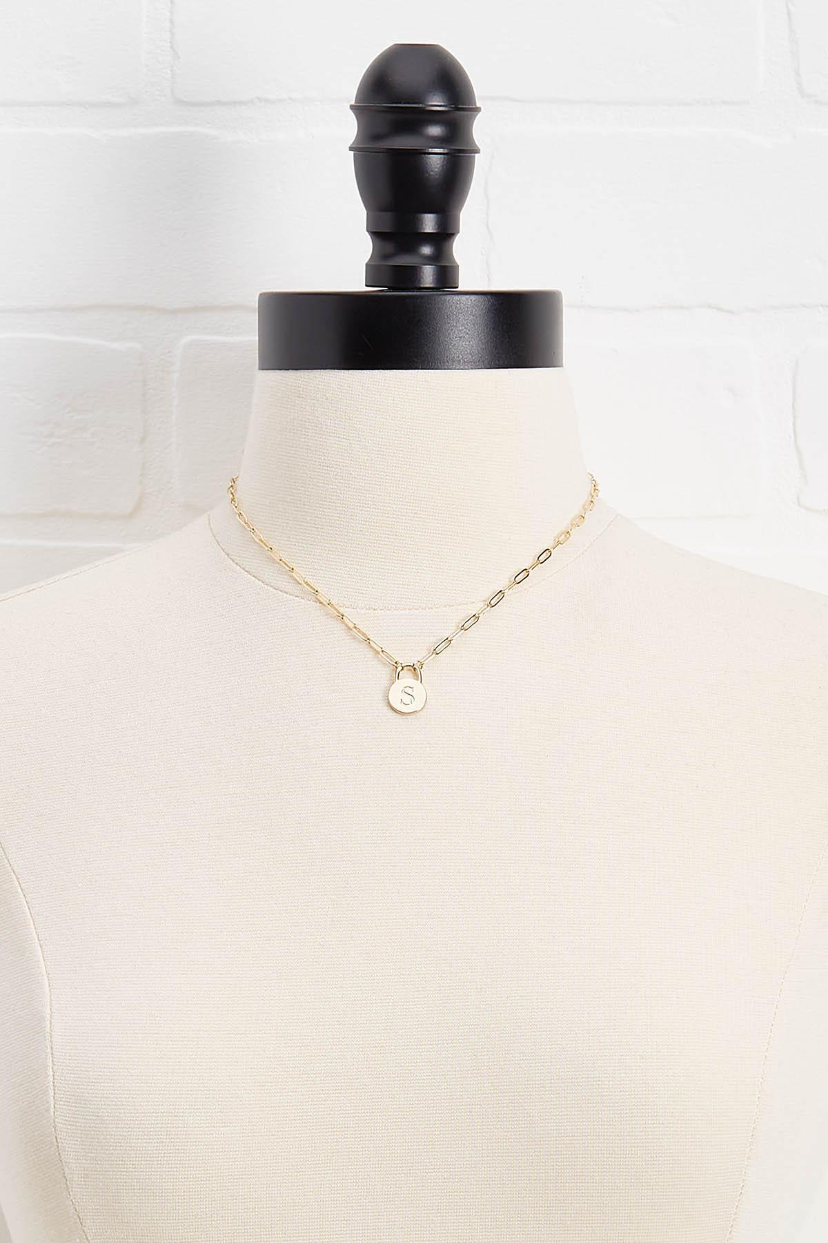 18k S Pendant Necklace