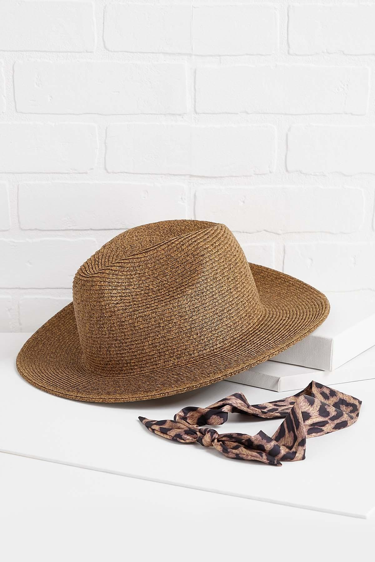 Leopard Band Fedora Hat