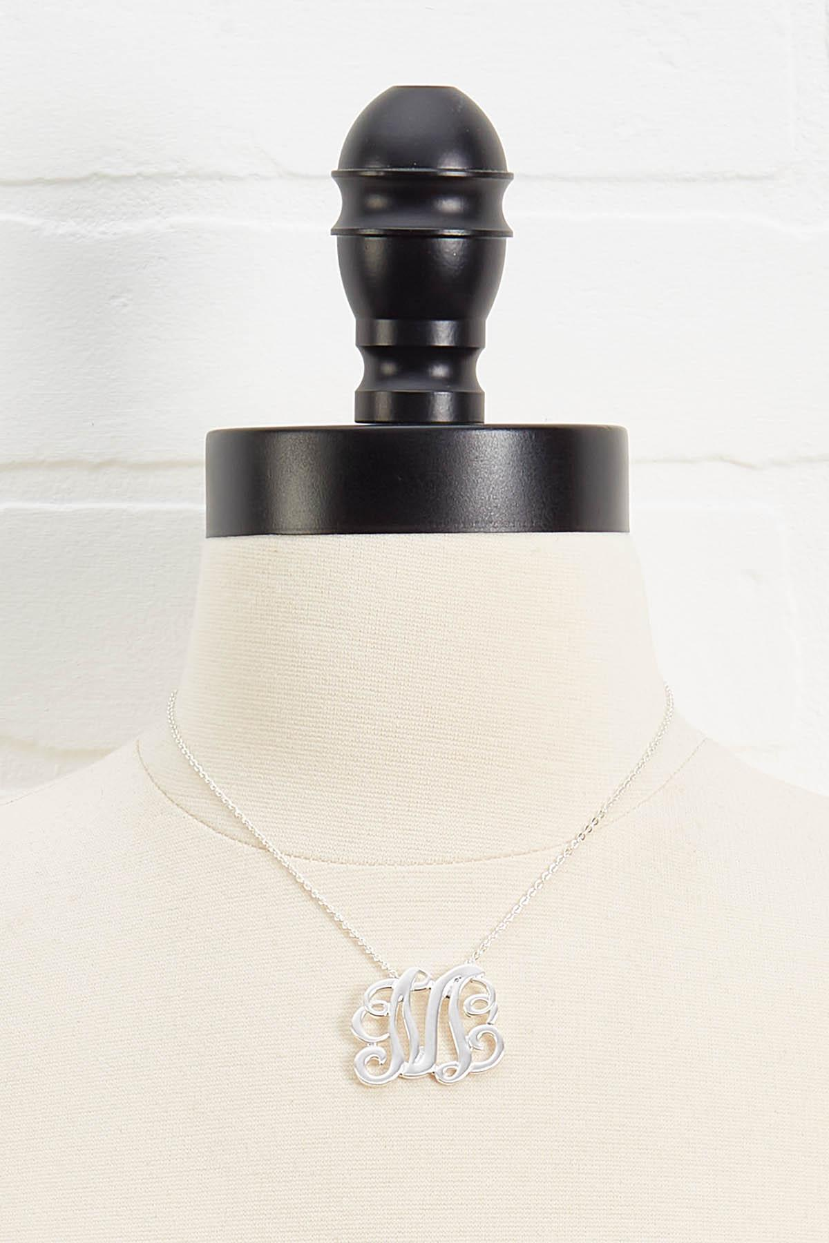 M Scroll Necklace