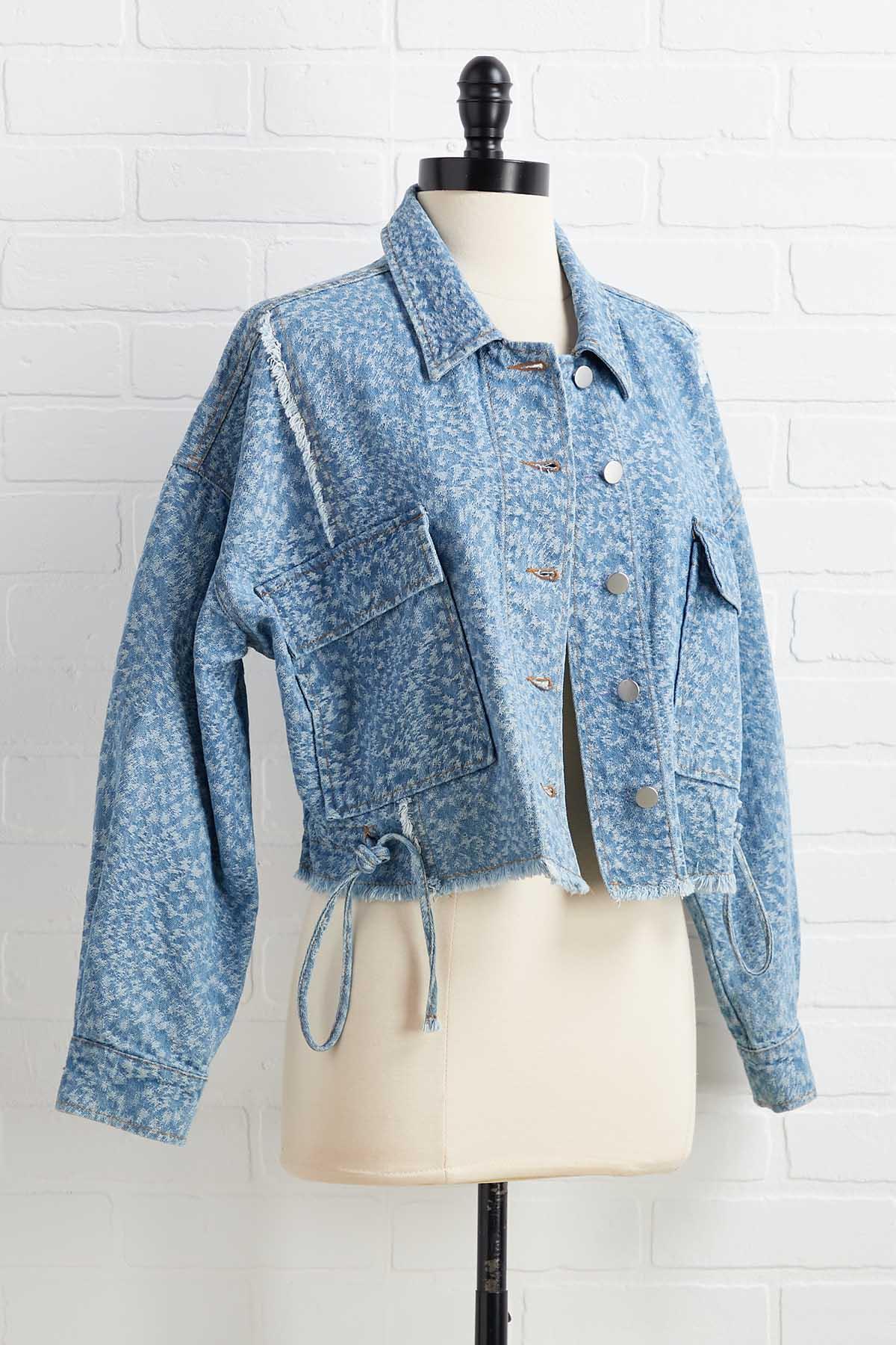 Textured Animal Print Jacket