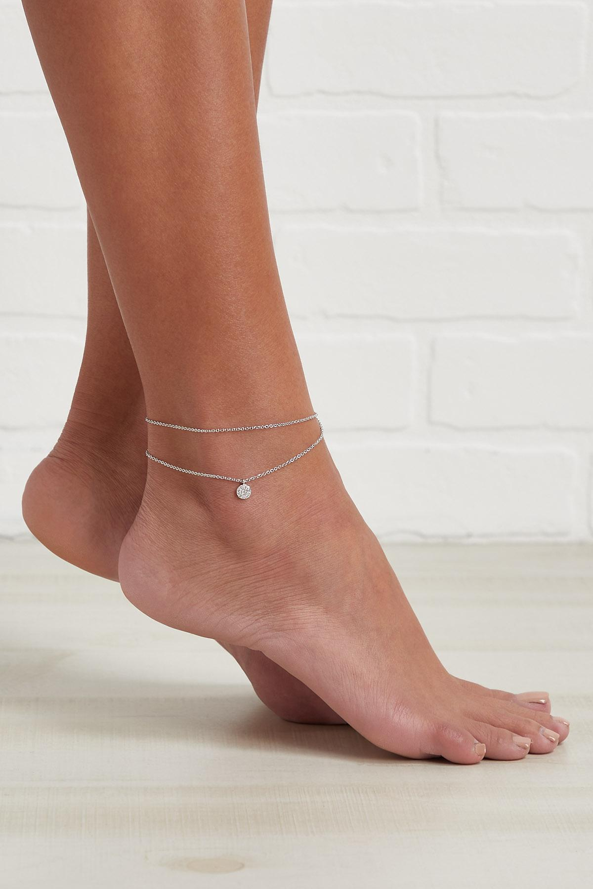 Layered Stone Disc Anklet
