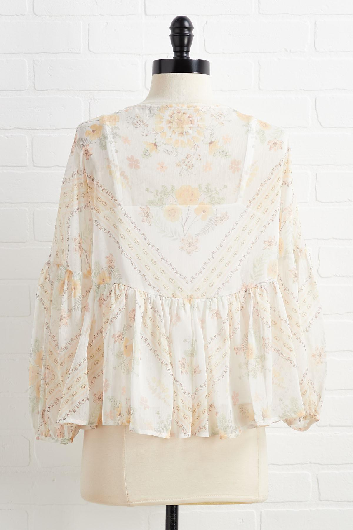 Just Sheer Me Out Top