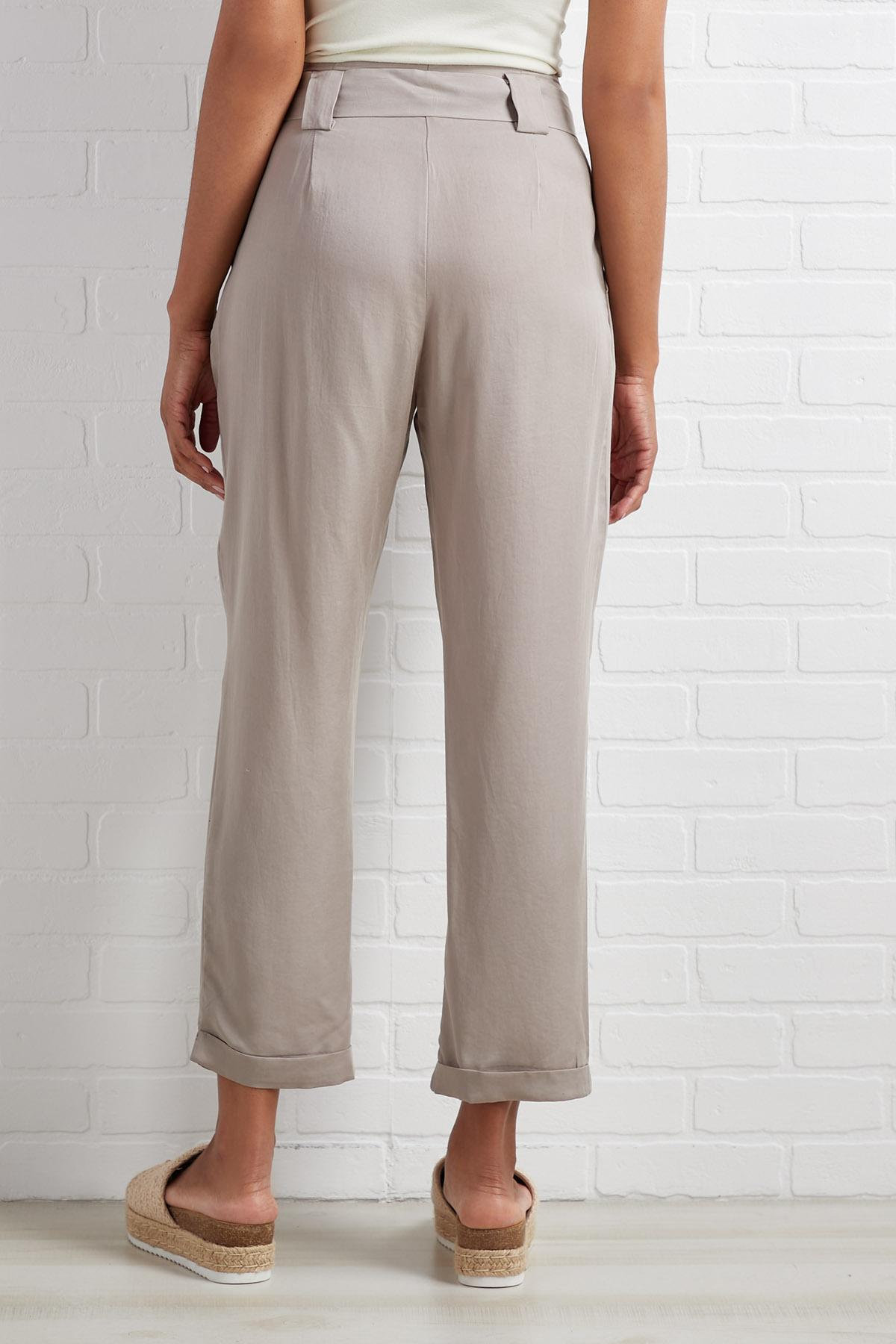Begged And Pleated Pants