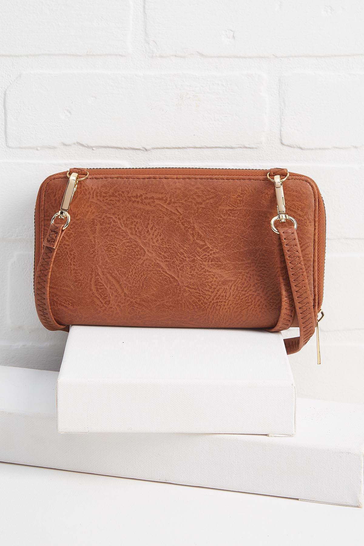 Tooled Crossbody Wallet