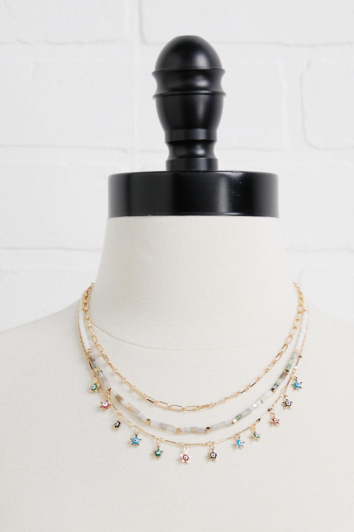 Shaky Star Layered Necklace