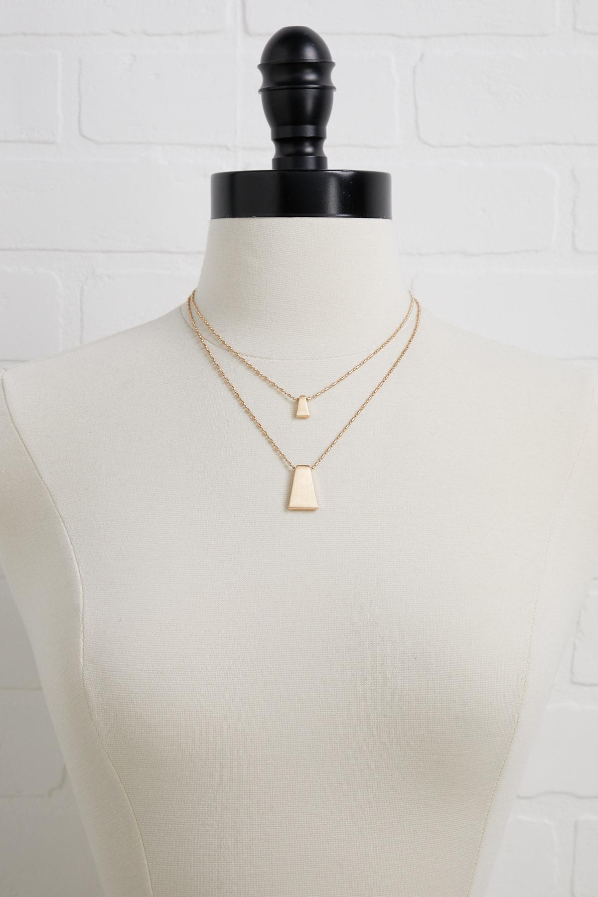 Brushed Dainty Necklace