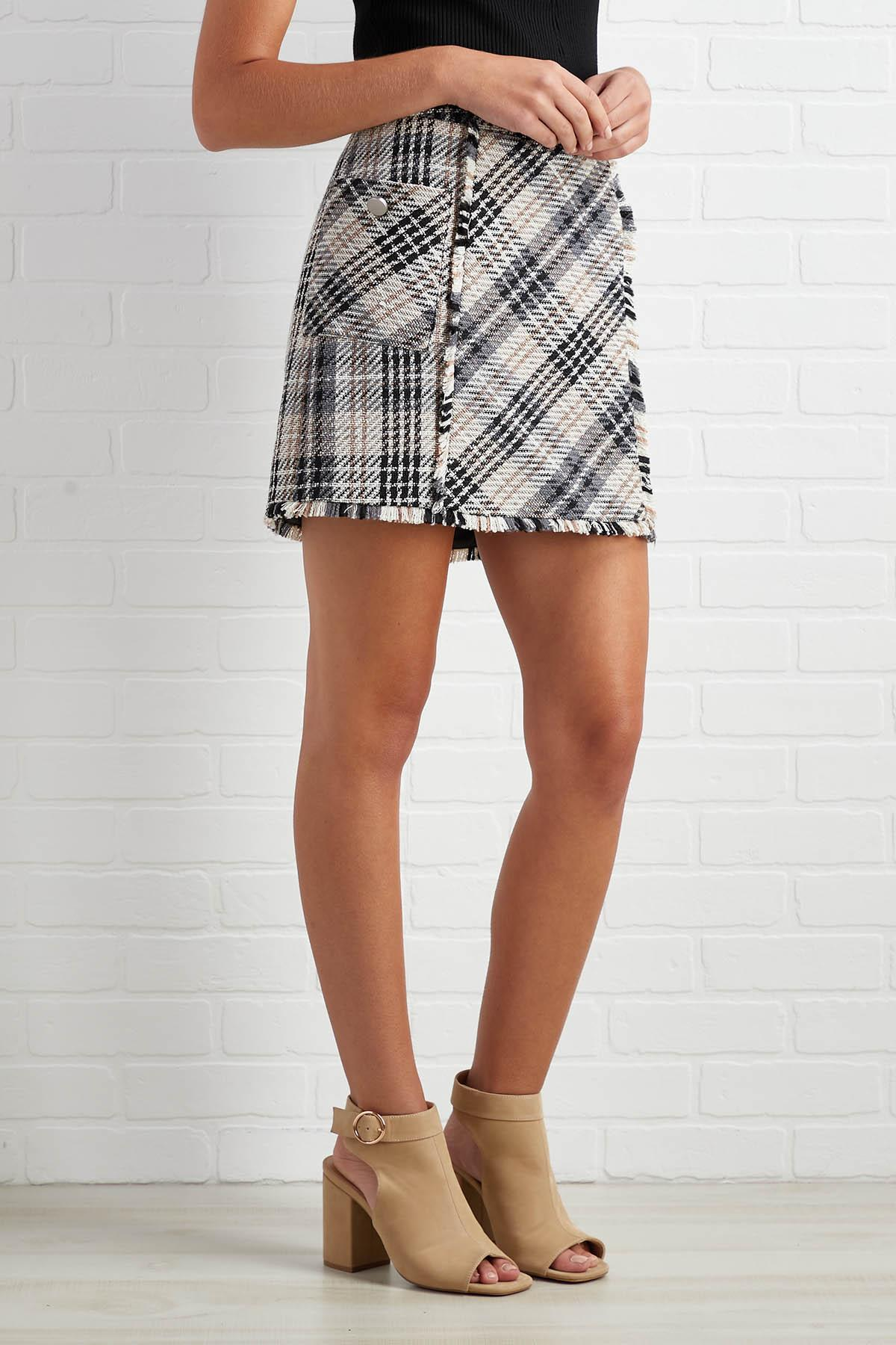 Tweed You Now Skirt