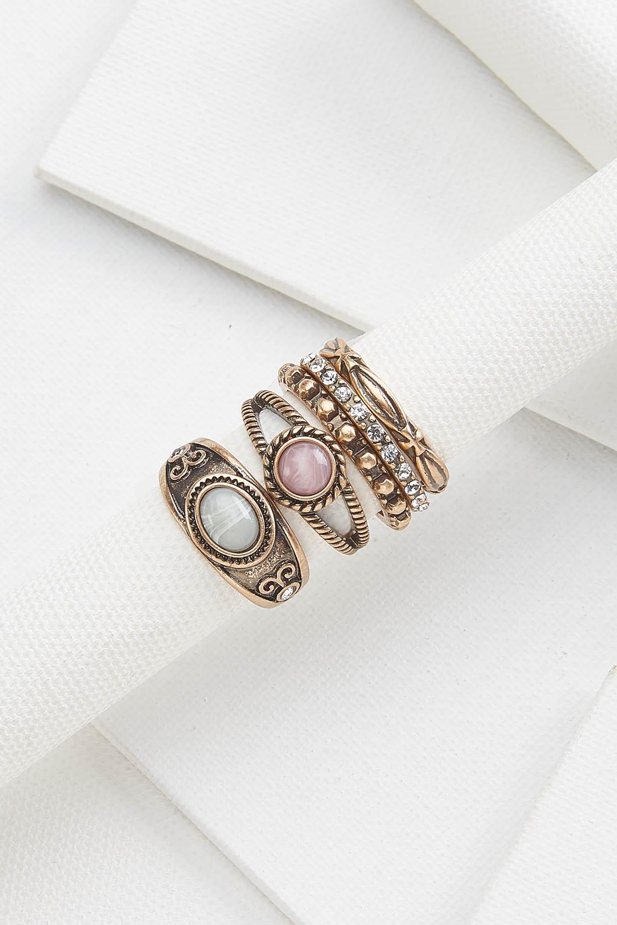 Gold Vintage Ring Set