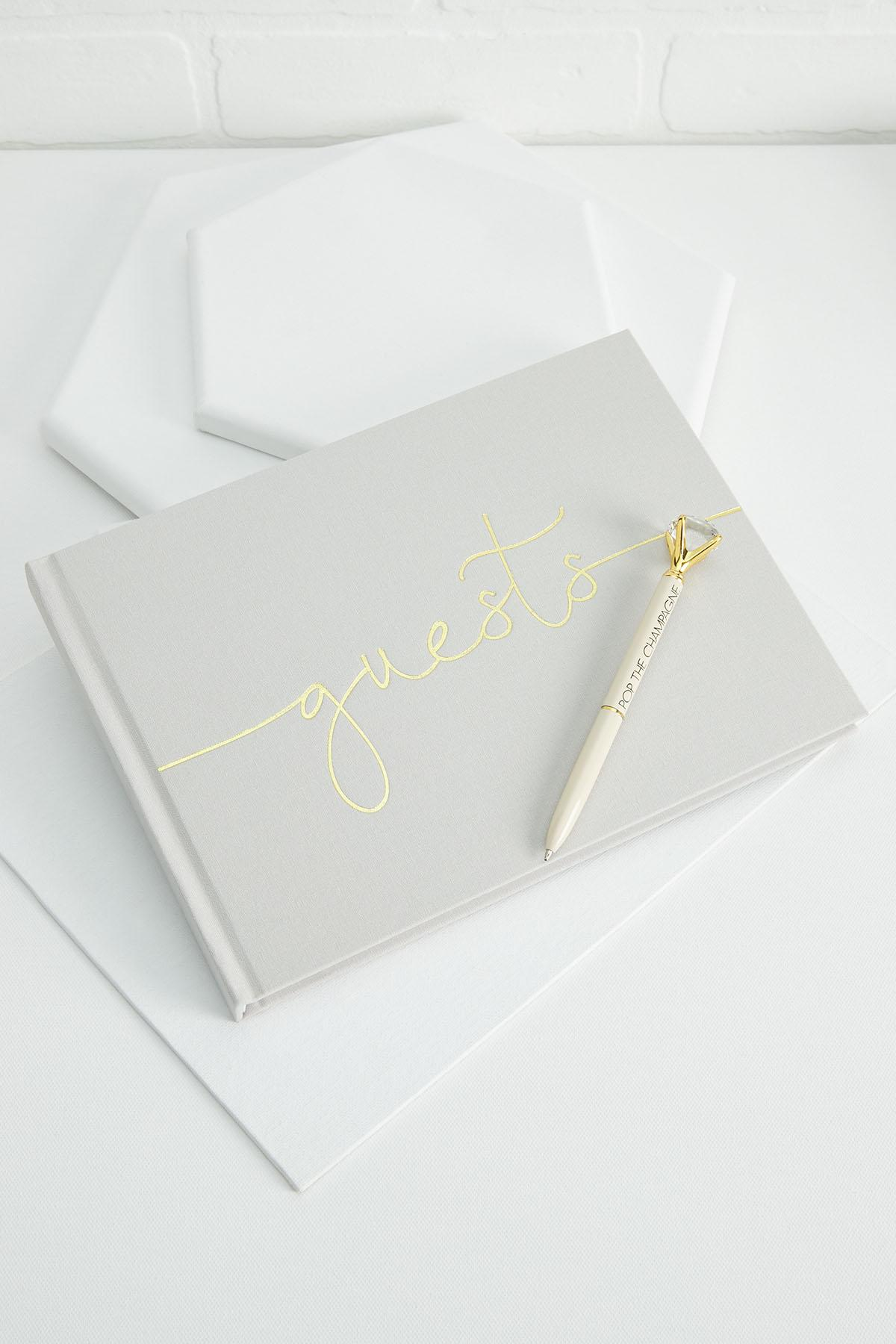 Gray Foiled Guest Book