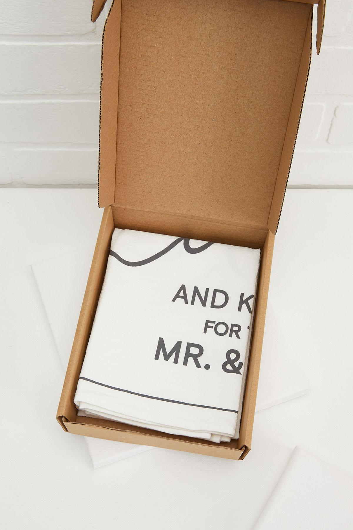Love And Kisses For The Mr And Mrs Tea Towel