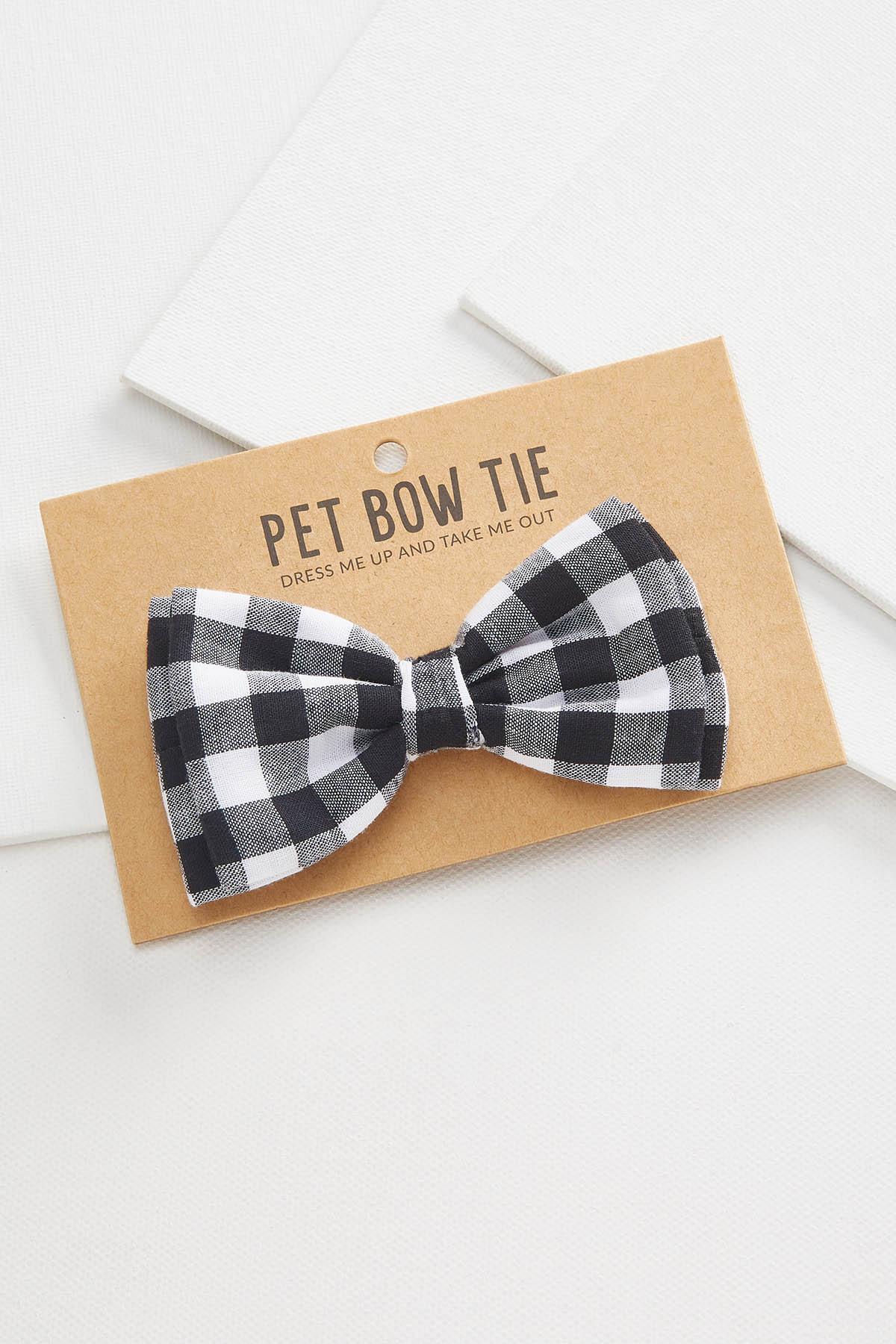 Black Gingham Pet Bow Tie
