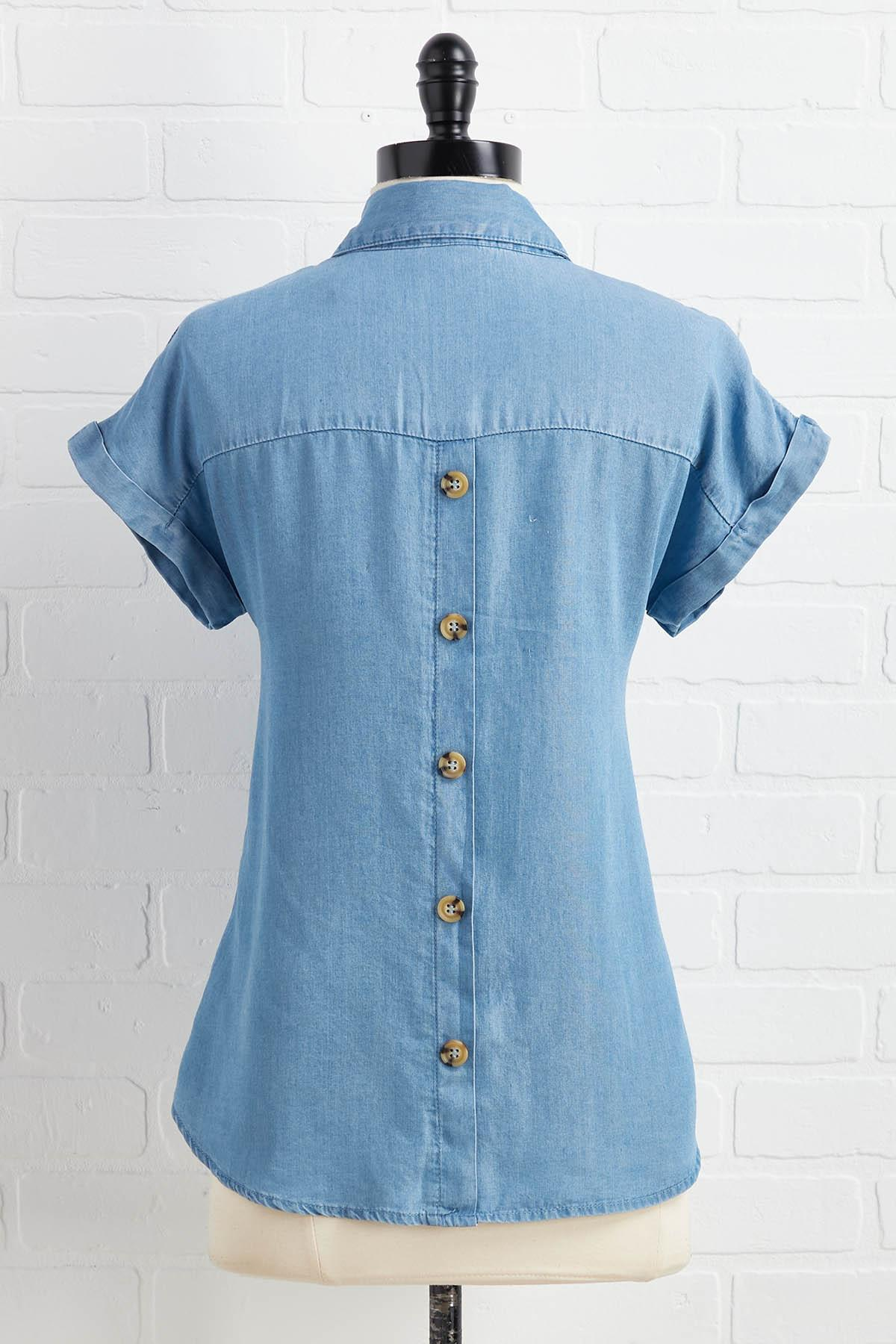 Button Back In Business Top